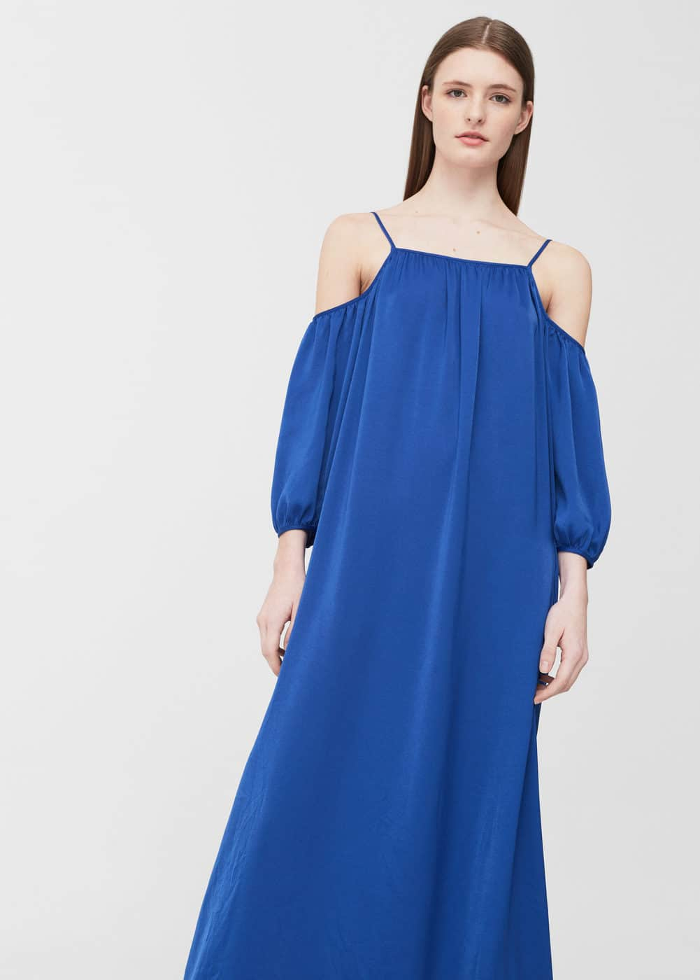 Cold-shoulder dress | MANGO