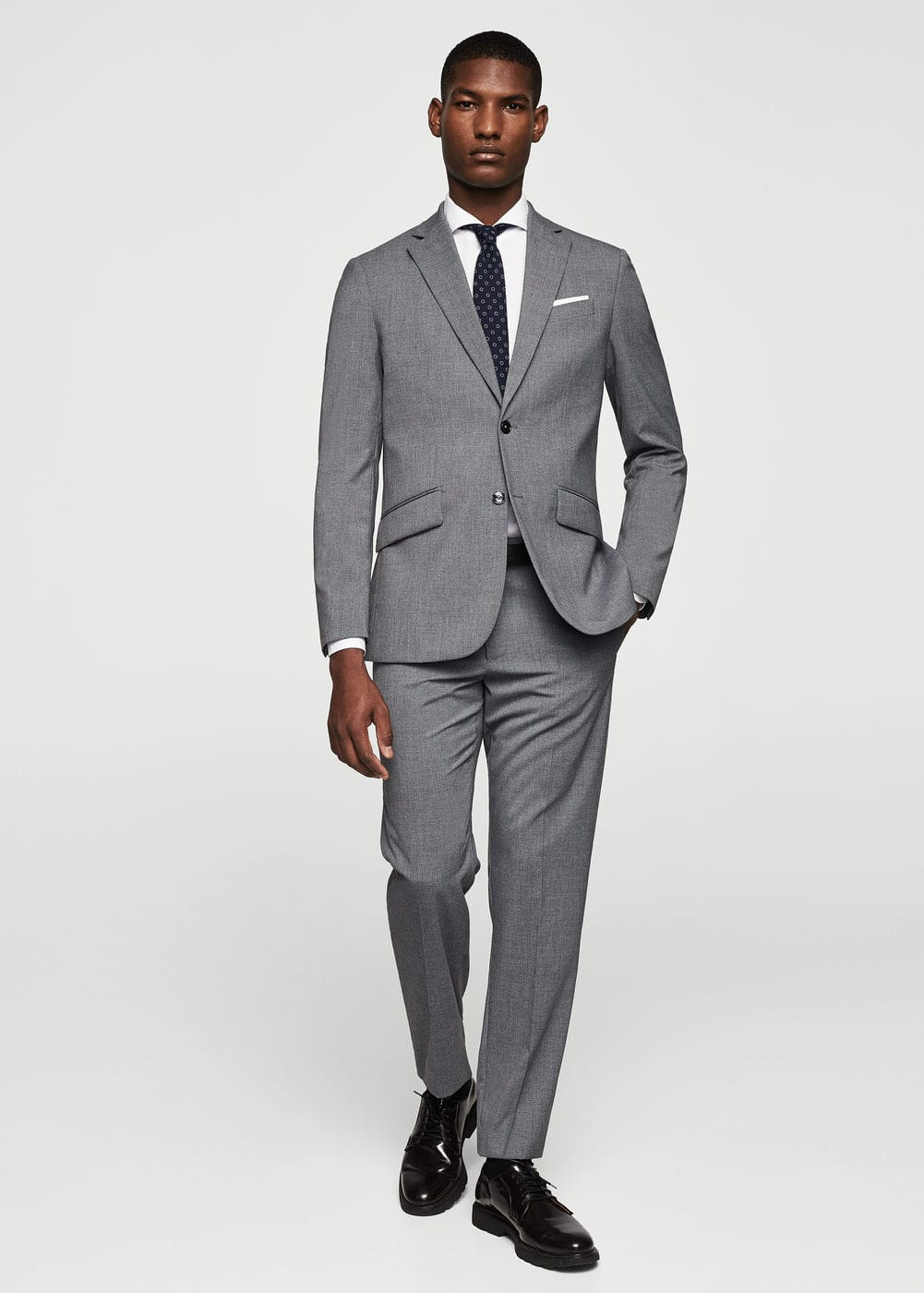 Regular-fit suit blazer | MANGO