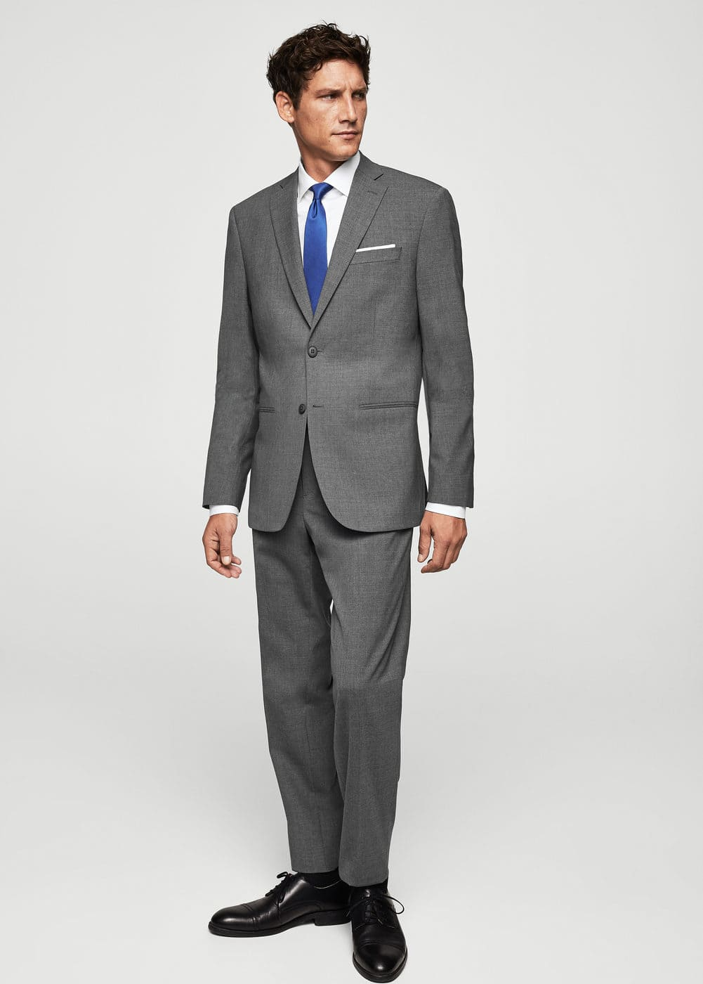 Slim-fit wool suit trousers | MANGO