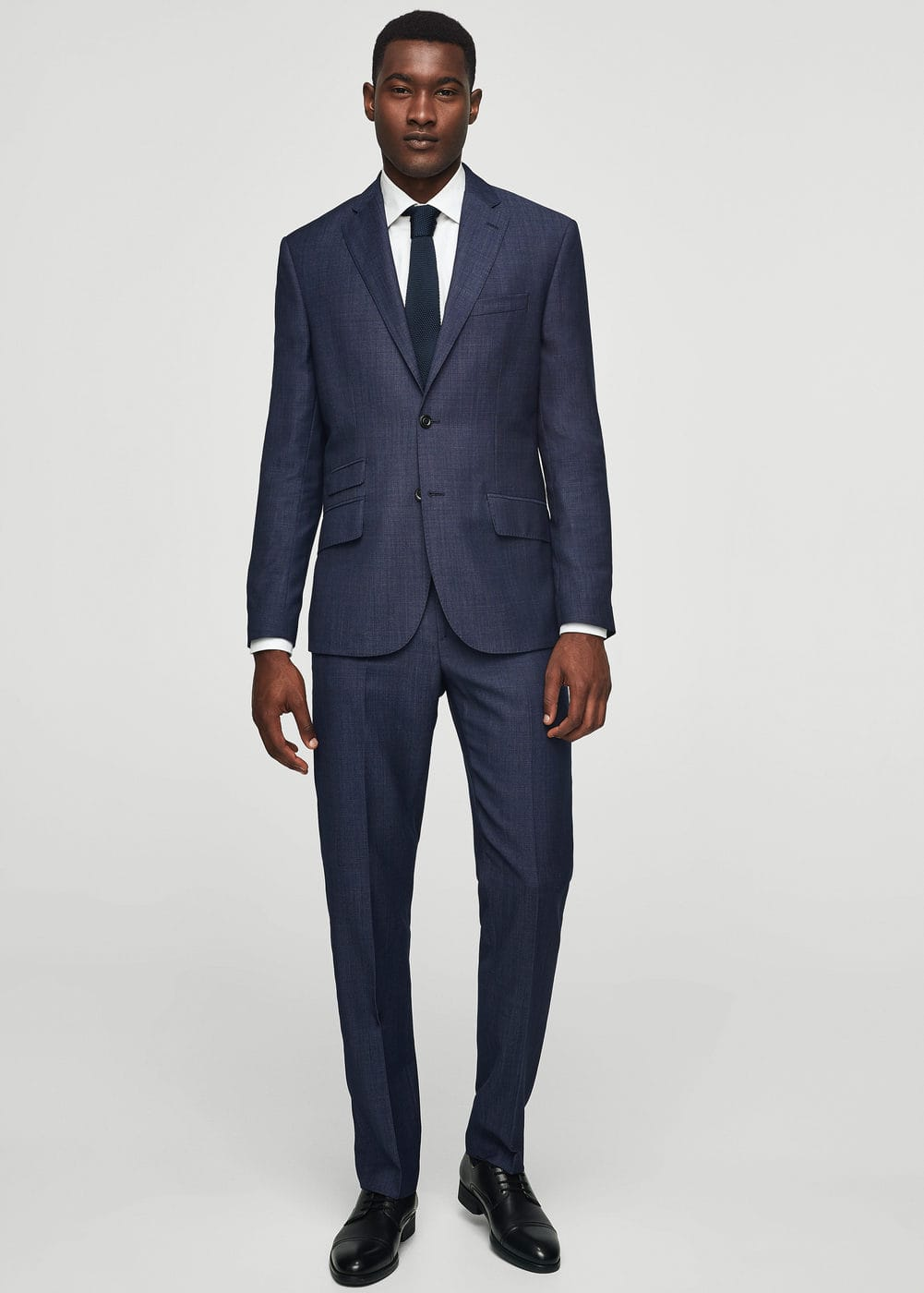 Slim fit flecked wool blazer | MANGO