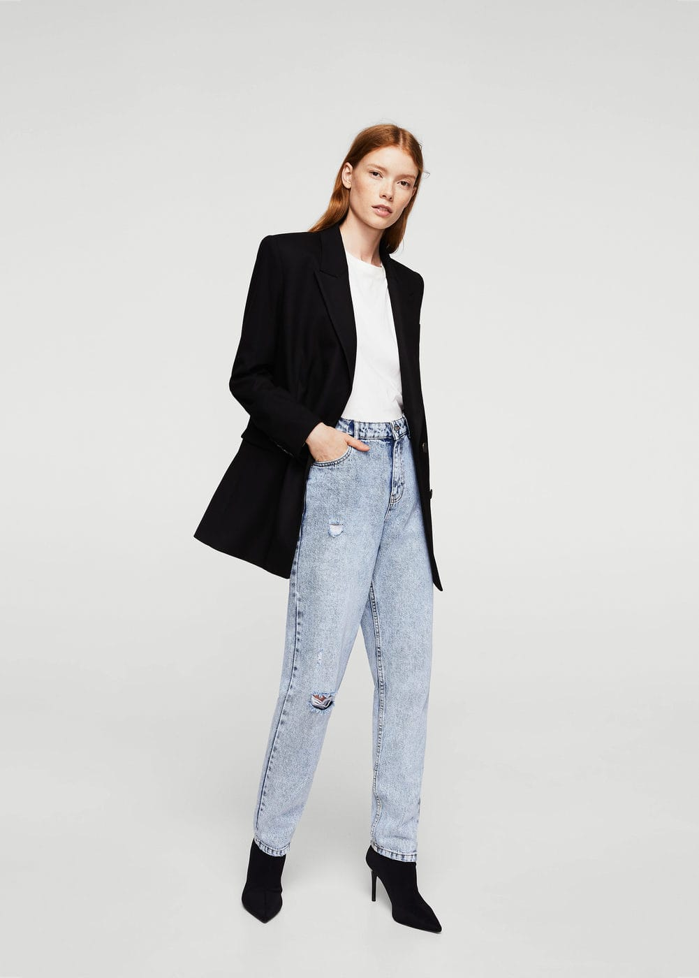 Relaxed jeans mom | MANGO