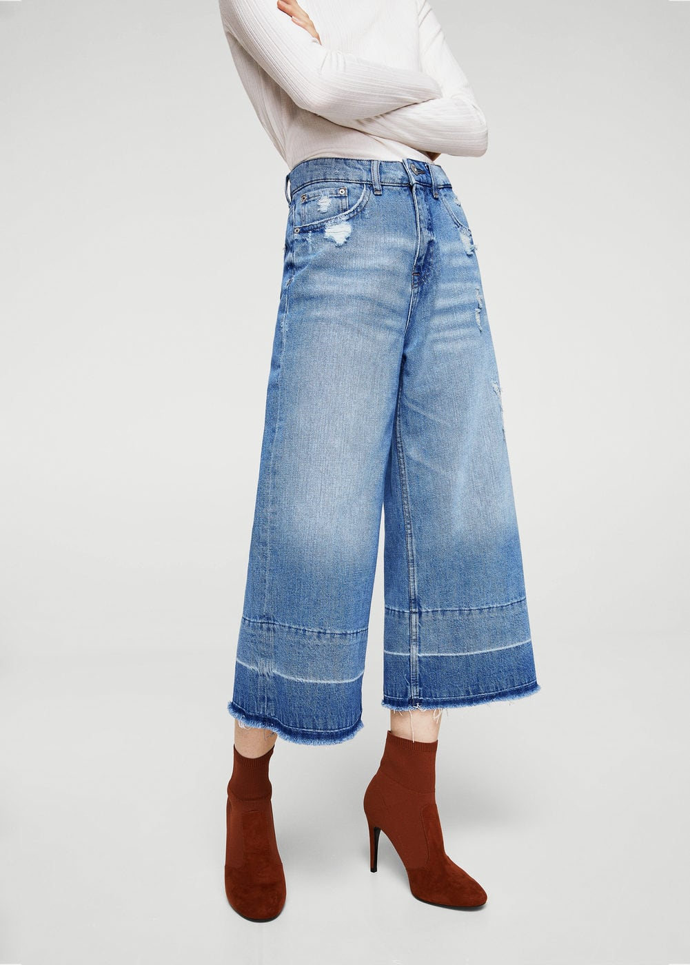 Crop flared jeans | MNG