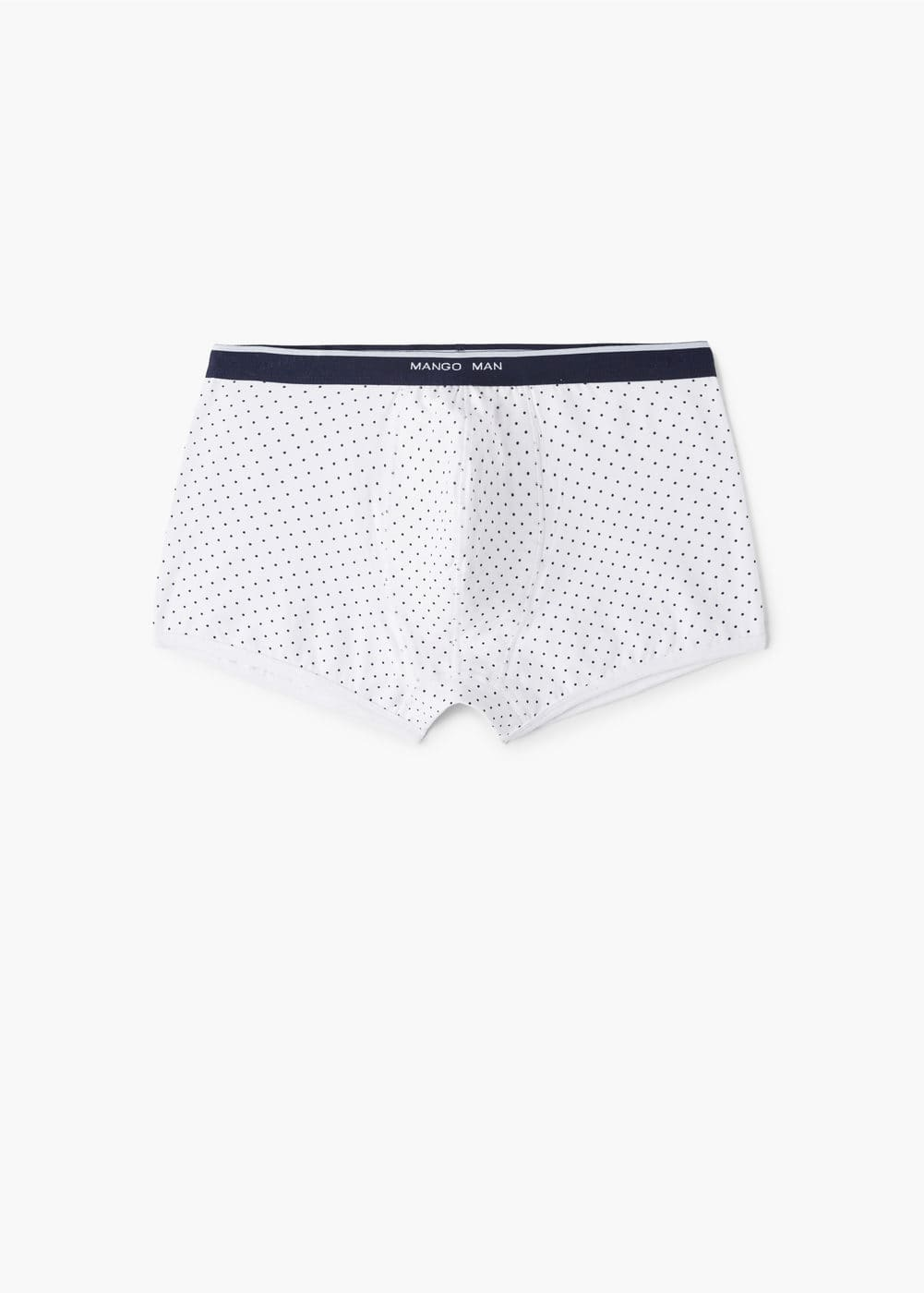 Polka-dot cotton boxer shorts | MANGO