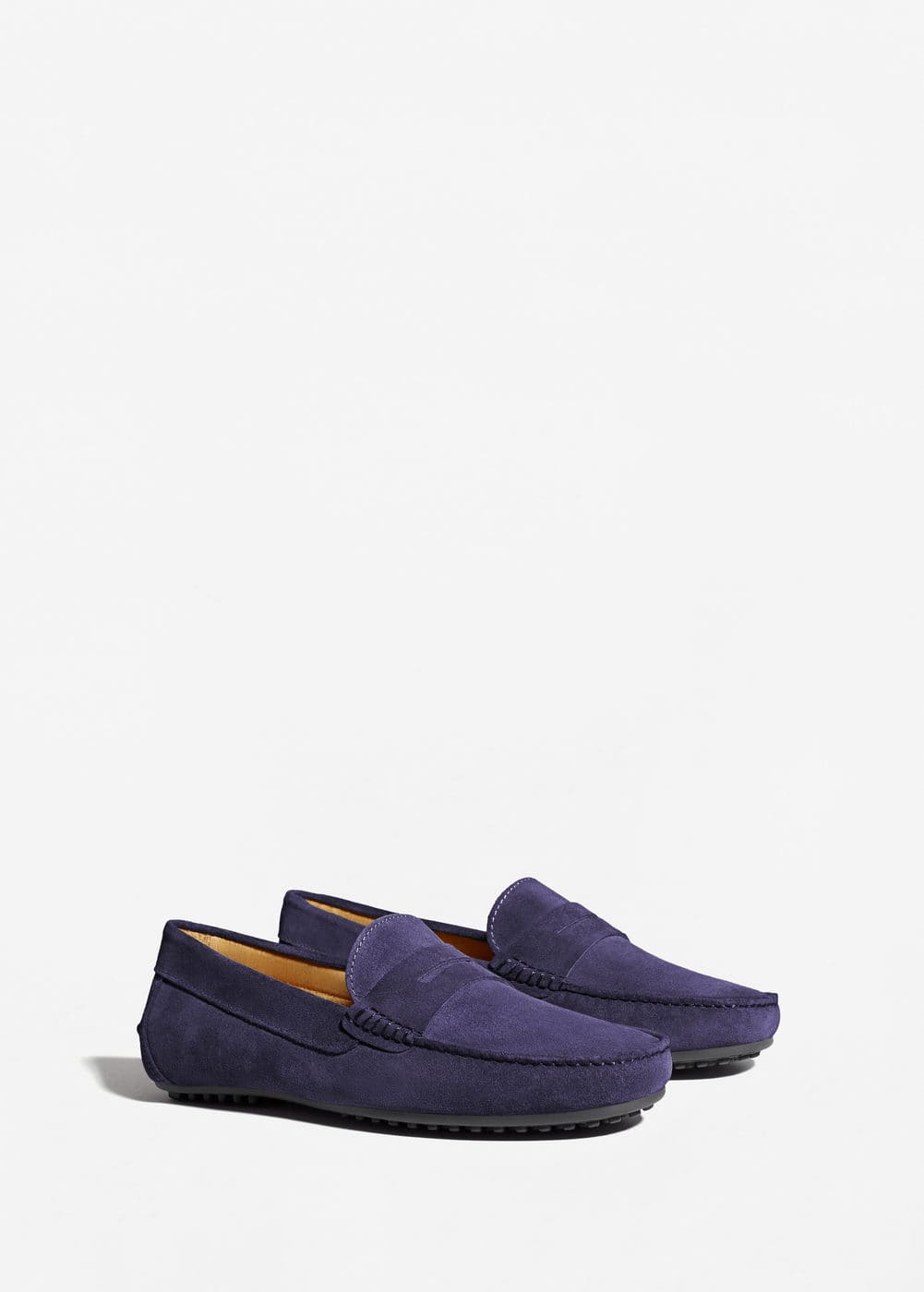 Suede penny loafers | MANGO MAN