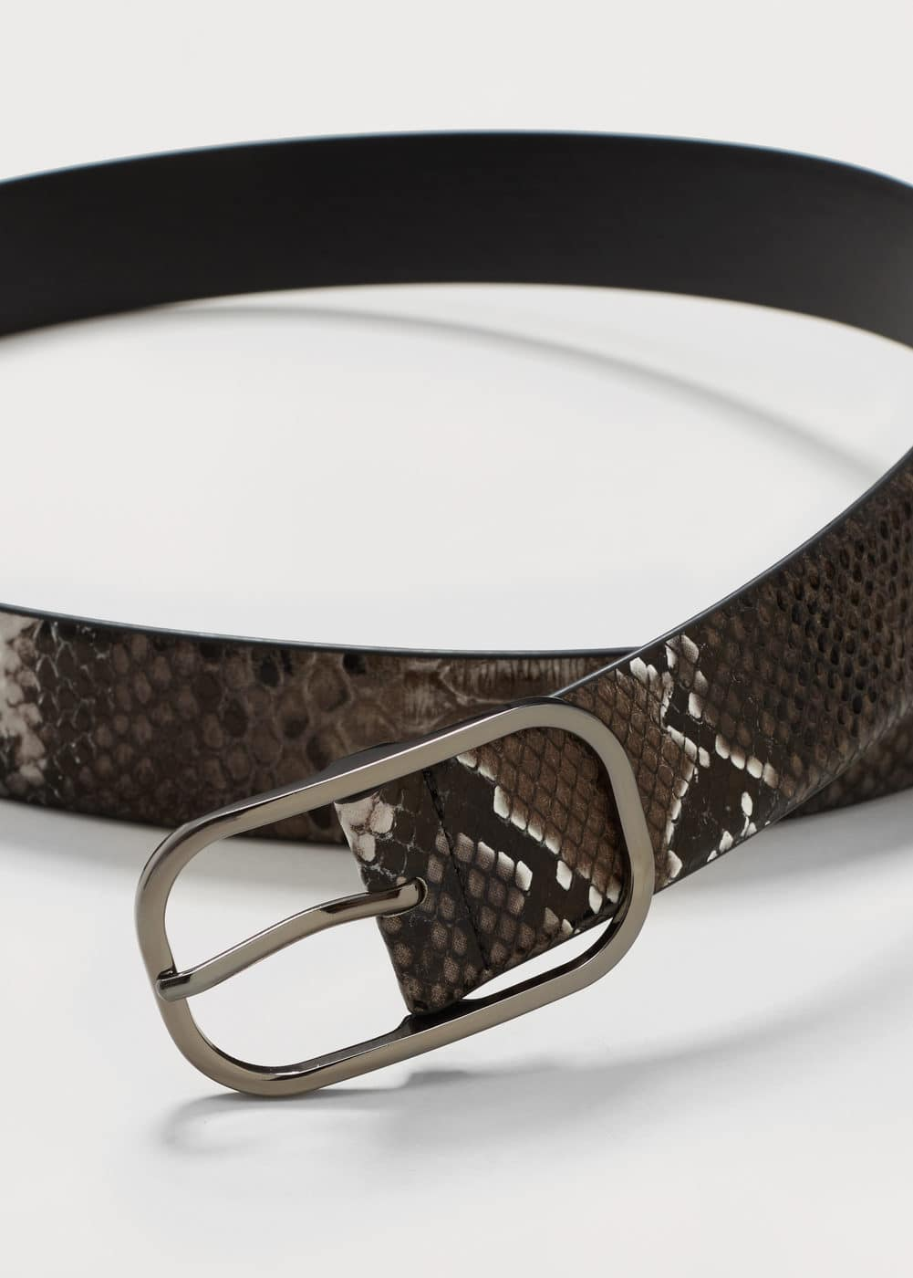 Snake buckle belt | VIOLETA BY MANGO