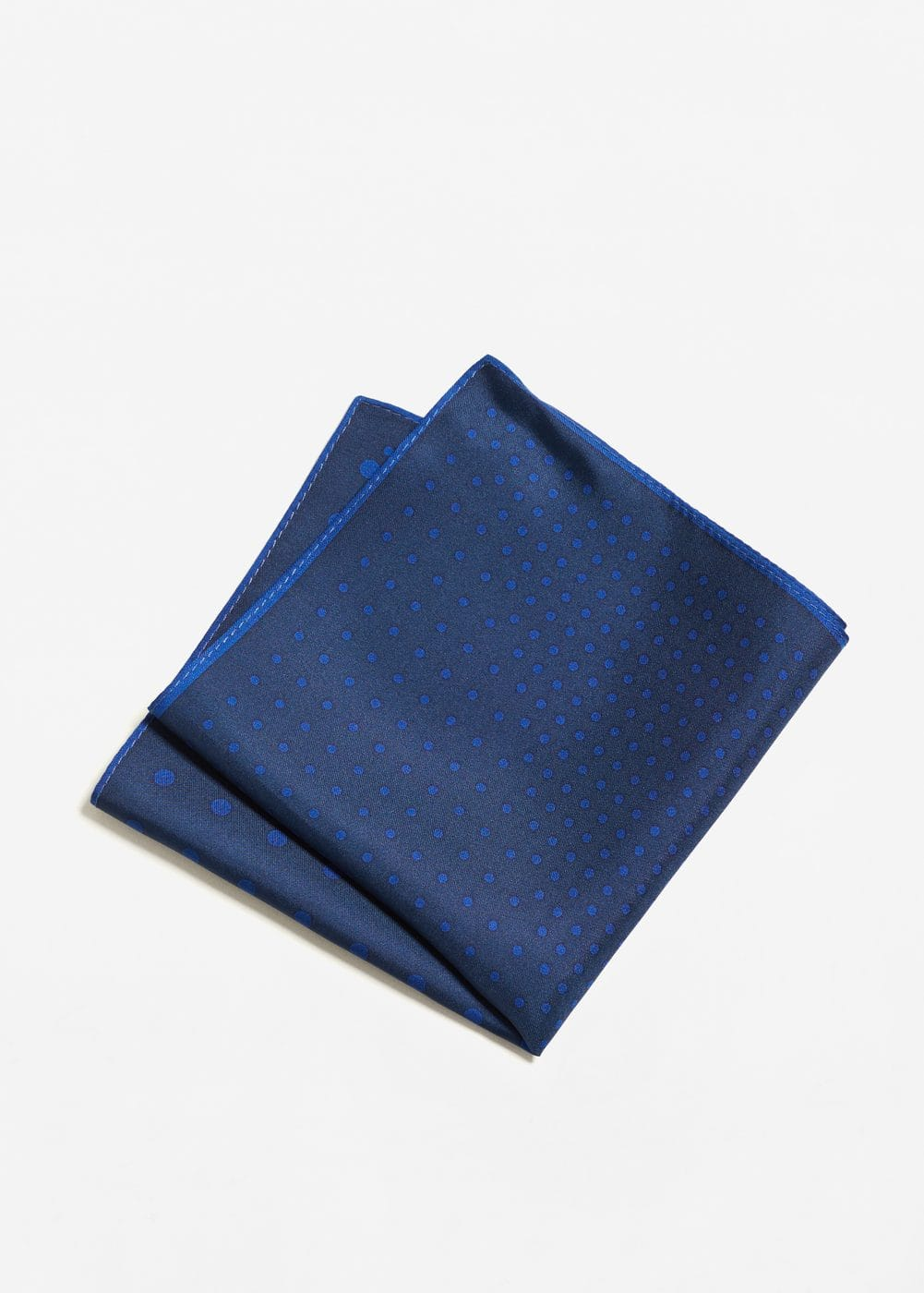 Printed silk pocket square | MANGO MAN