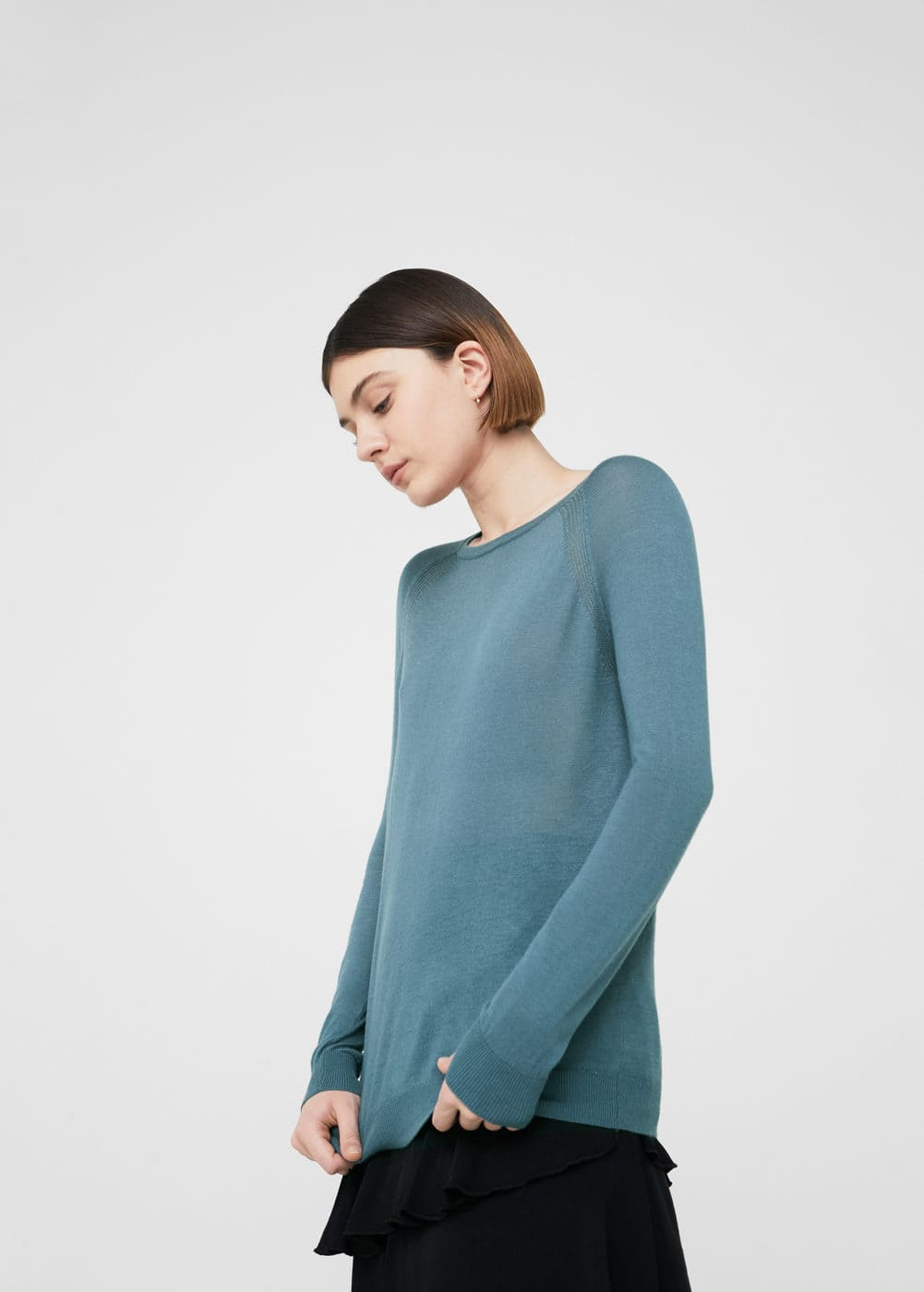Decorative seam sweater | MANGO