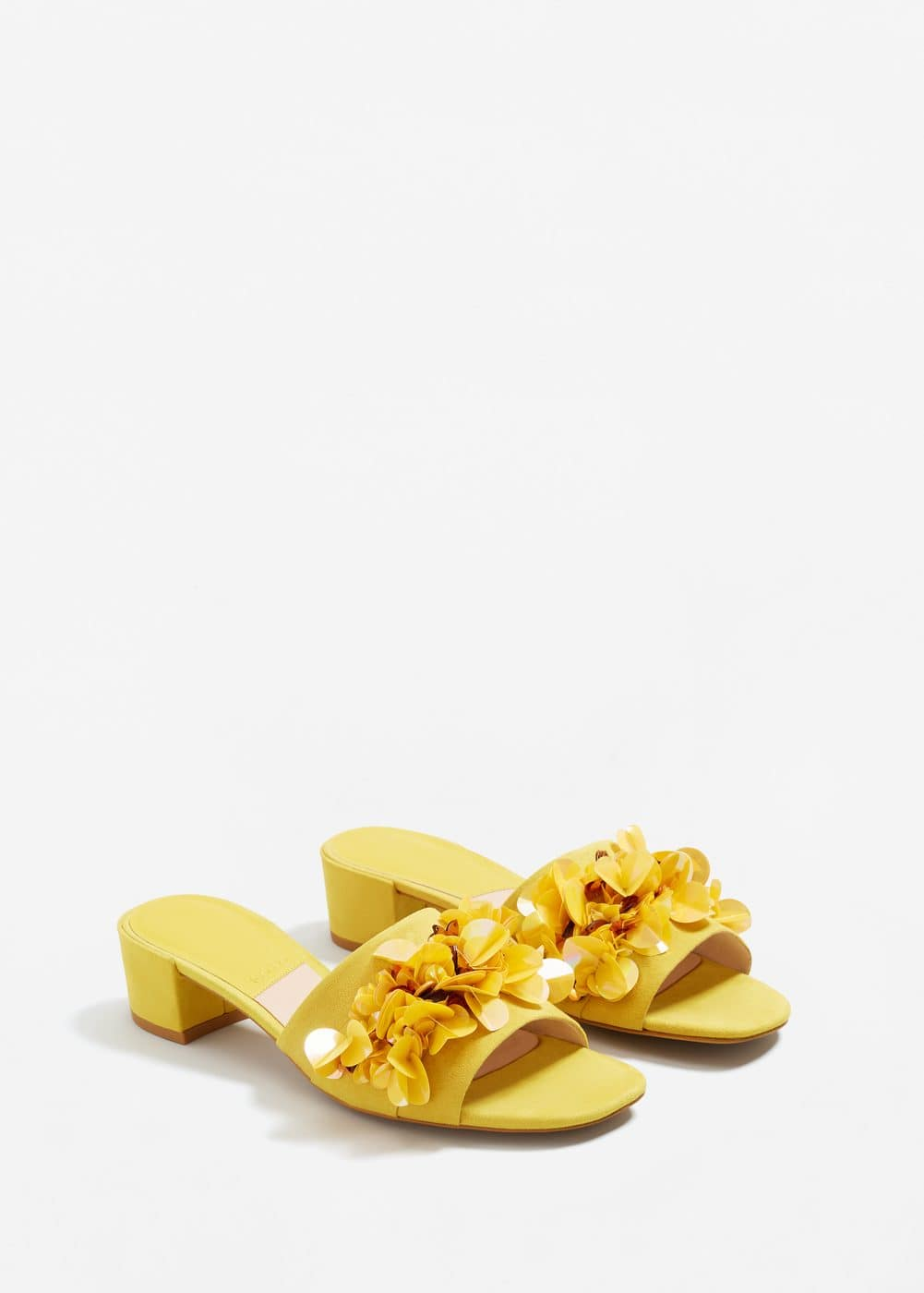 Sequin appliqué sandals | MANGO