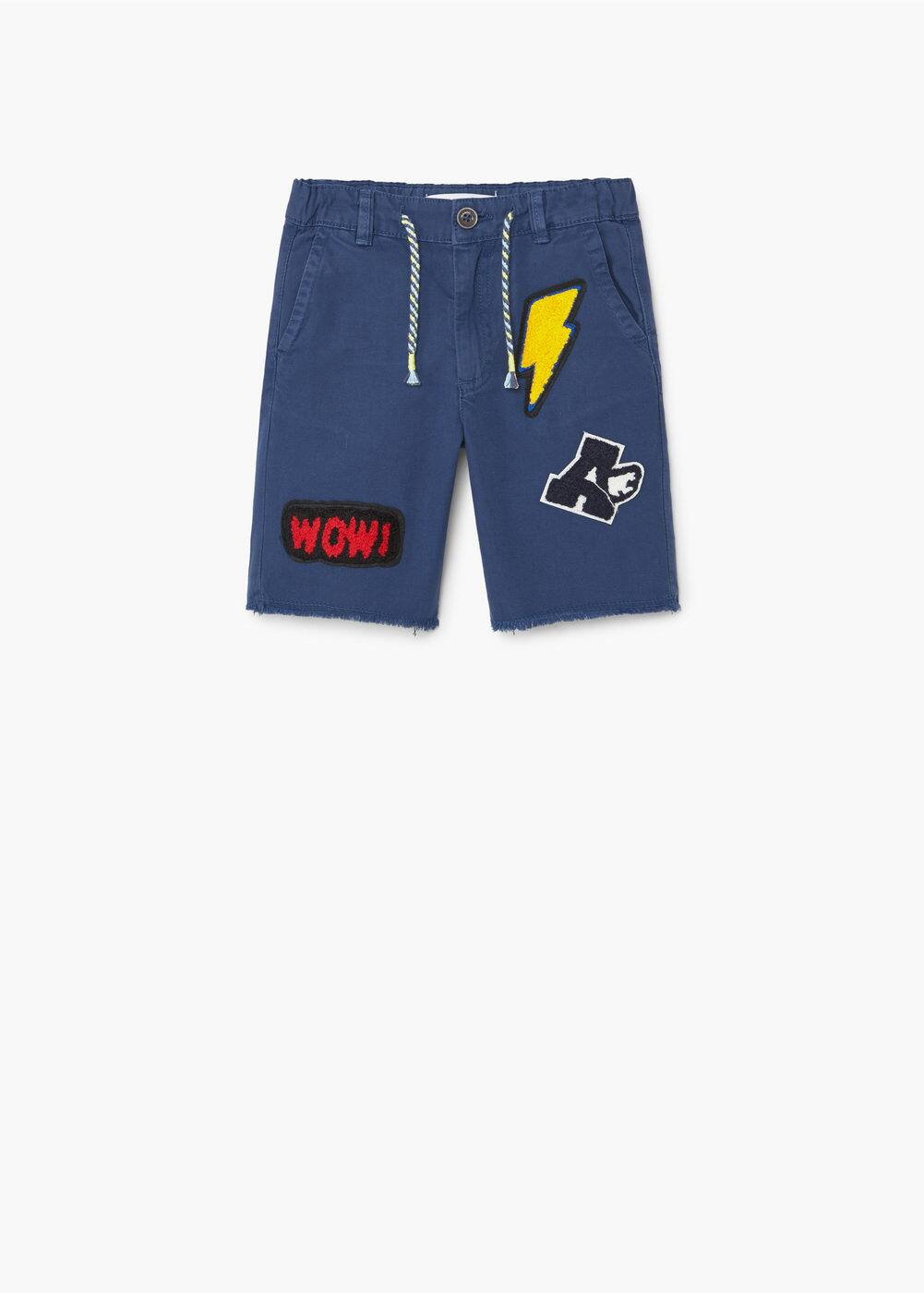 Decorative patch bermuda short | MANGO KIDS
