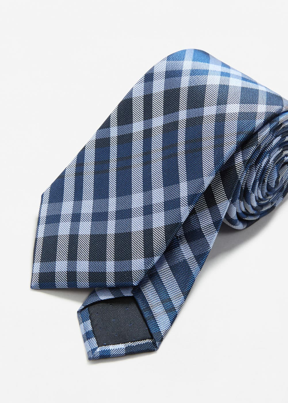 Check silk-blend tie | MANGO MAN