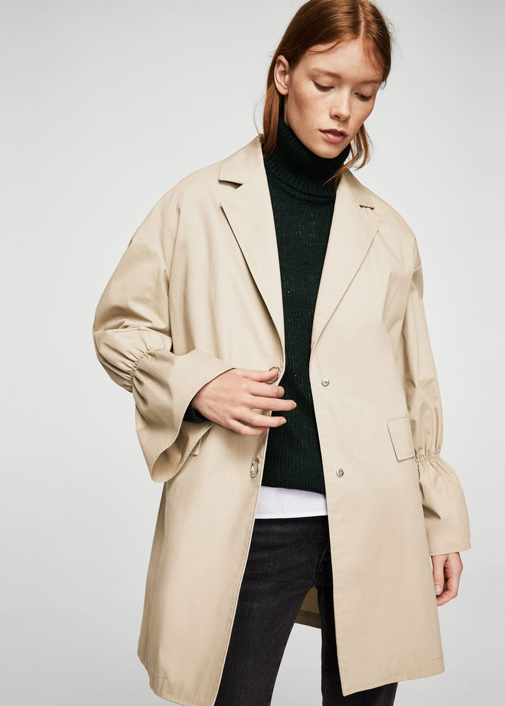 Flared sleeve trench | MANGO