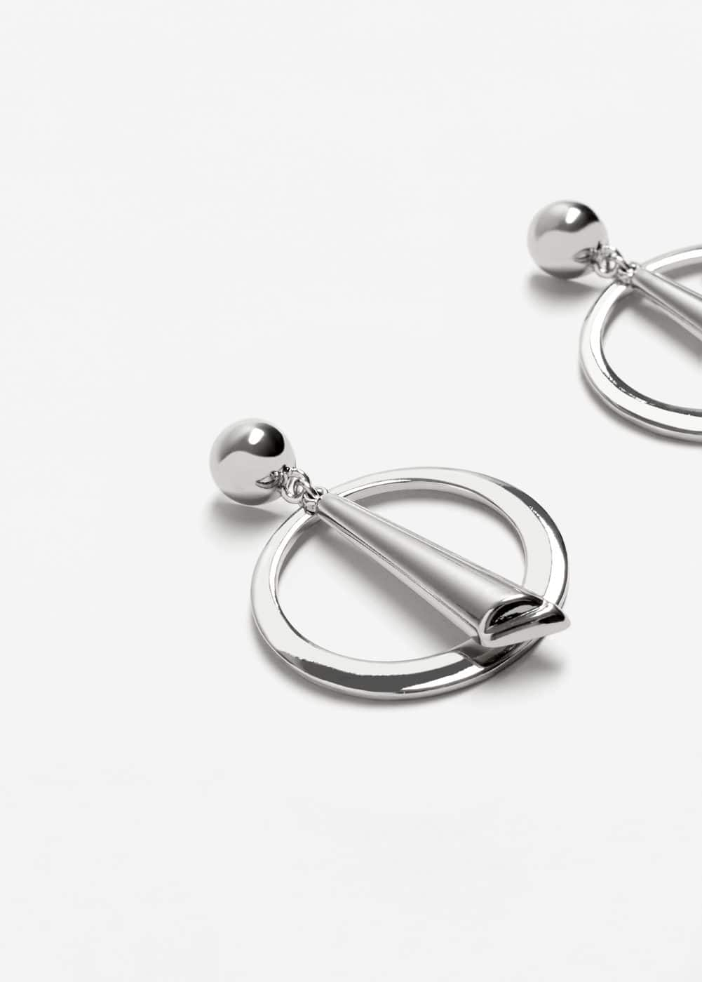 Circular pendant earrings | MANGO