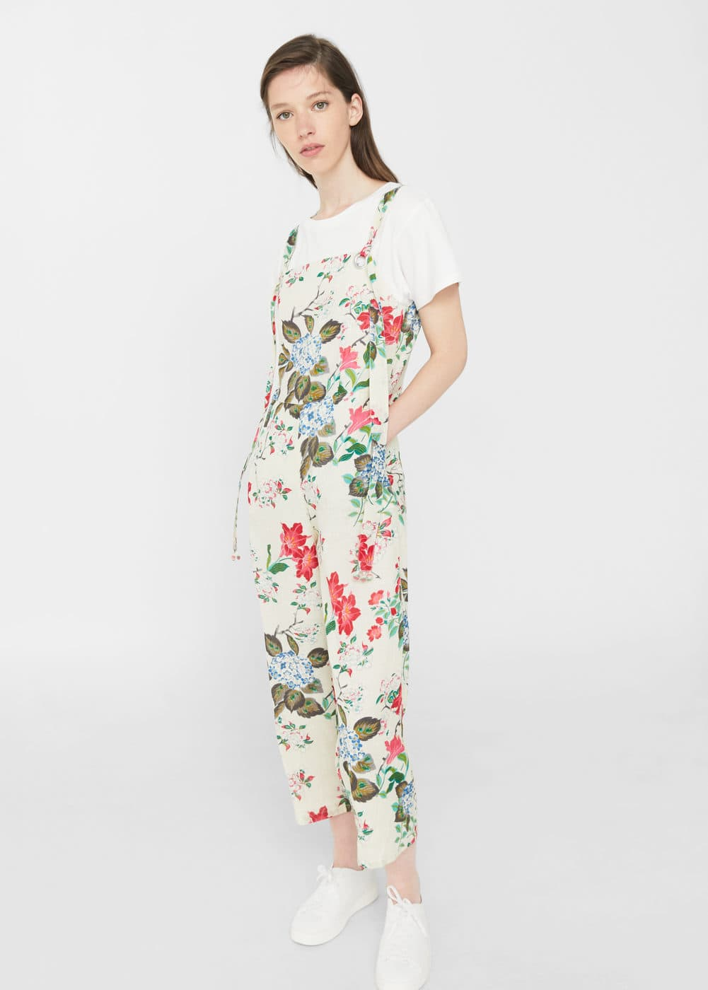 Cotton print jumpsuit | MANGO