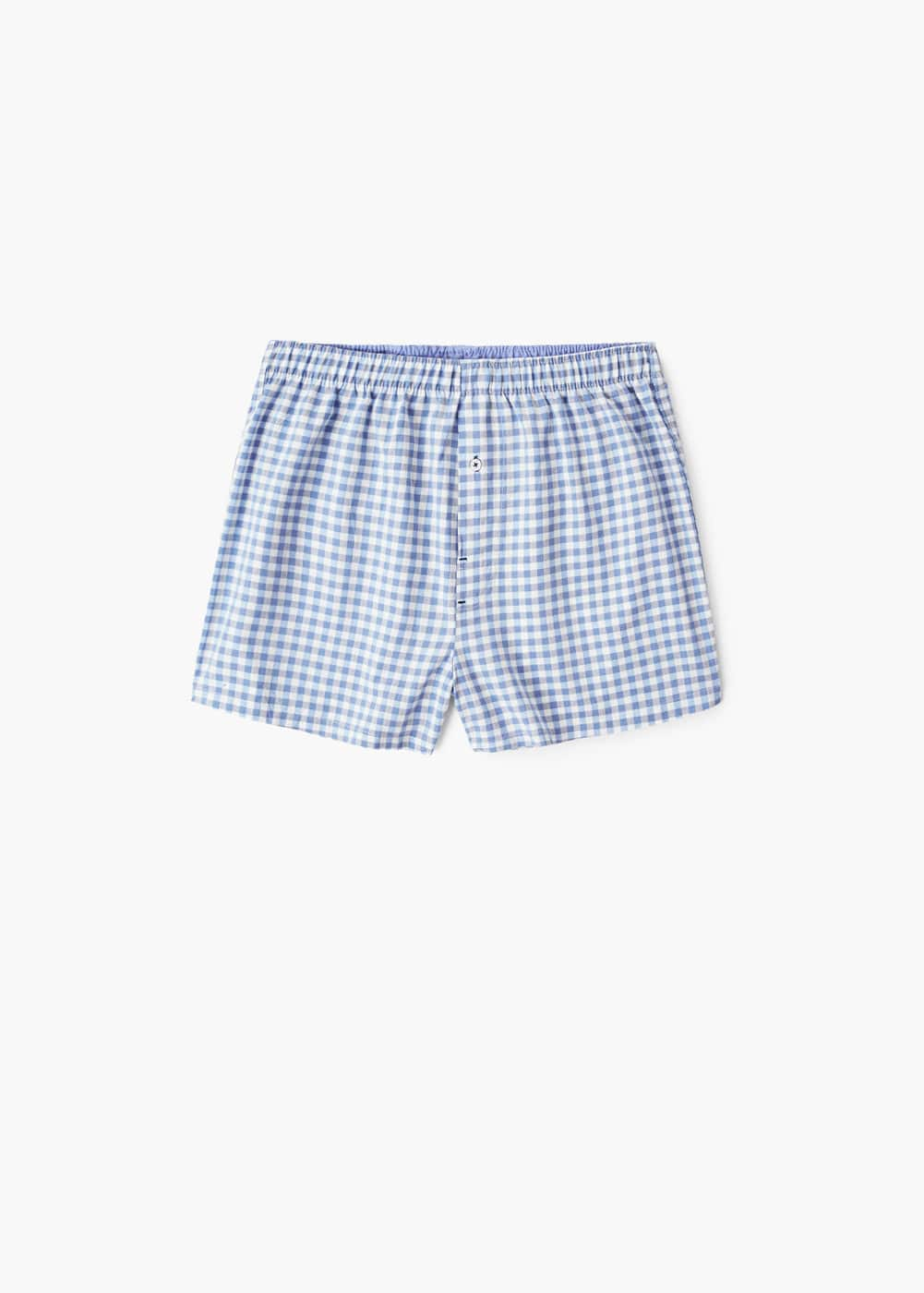 Check cotton boxer shorts | MANGO MAN