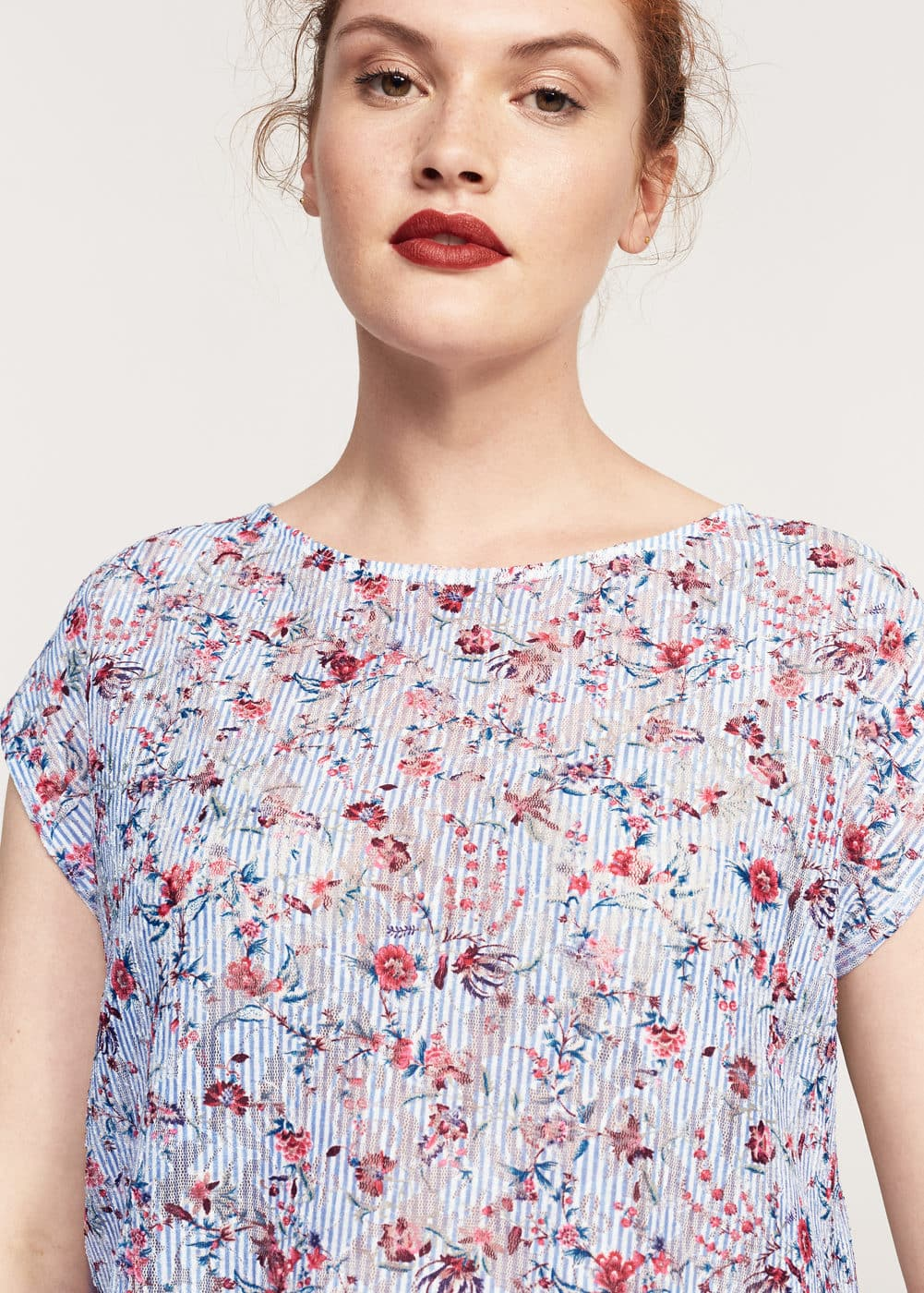 Floral lace t-shirt | VIOLETA BY MNG