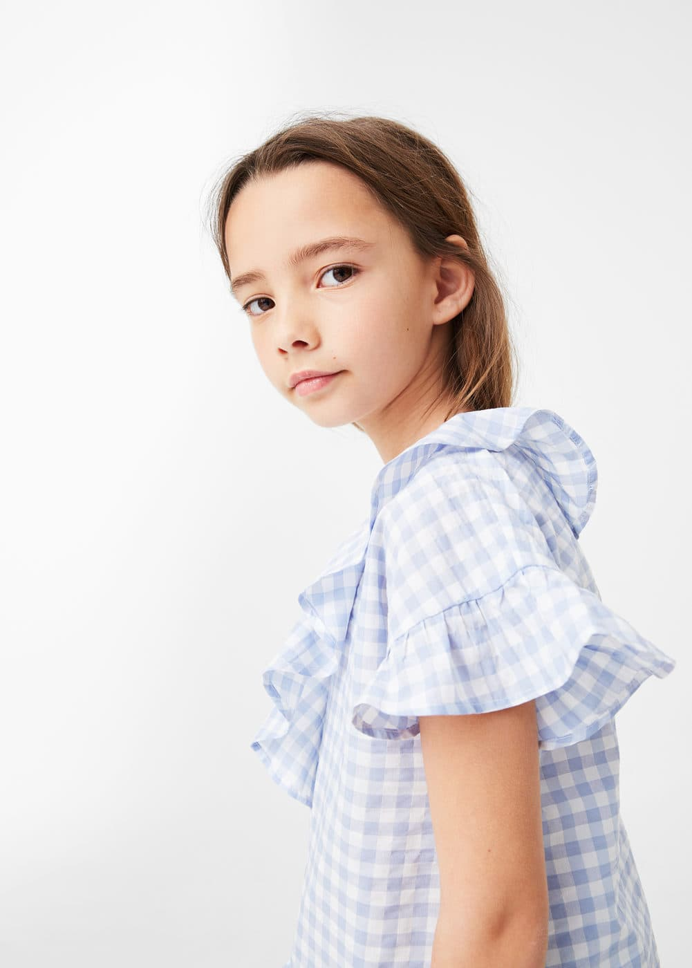 Brusa vichy volants | MANGO KIDS