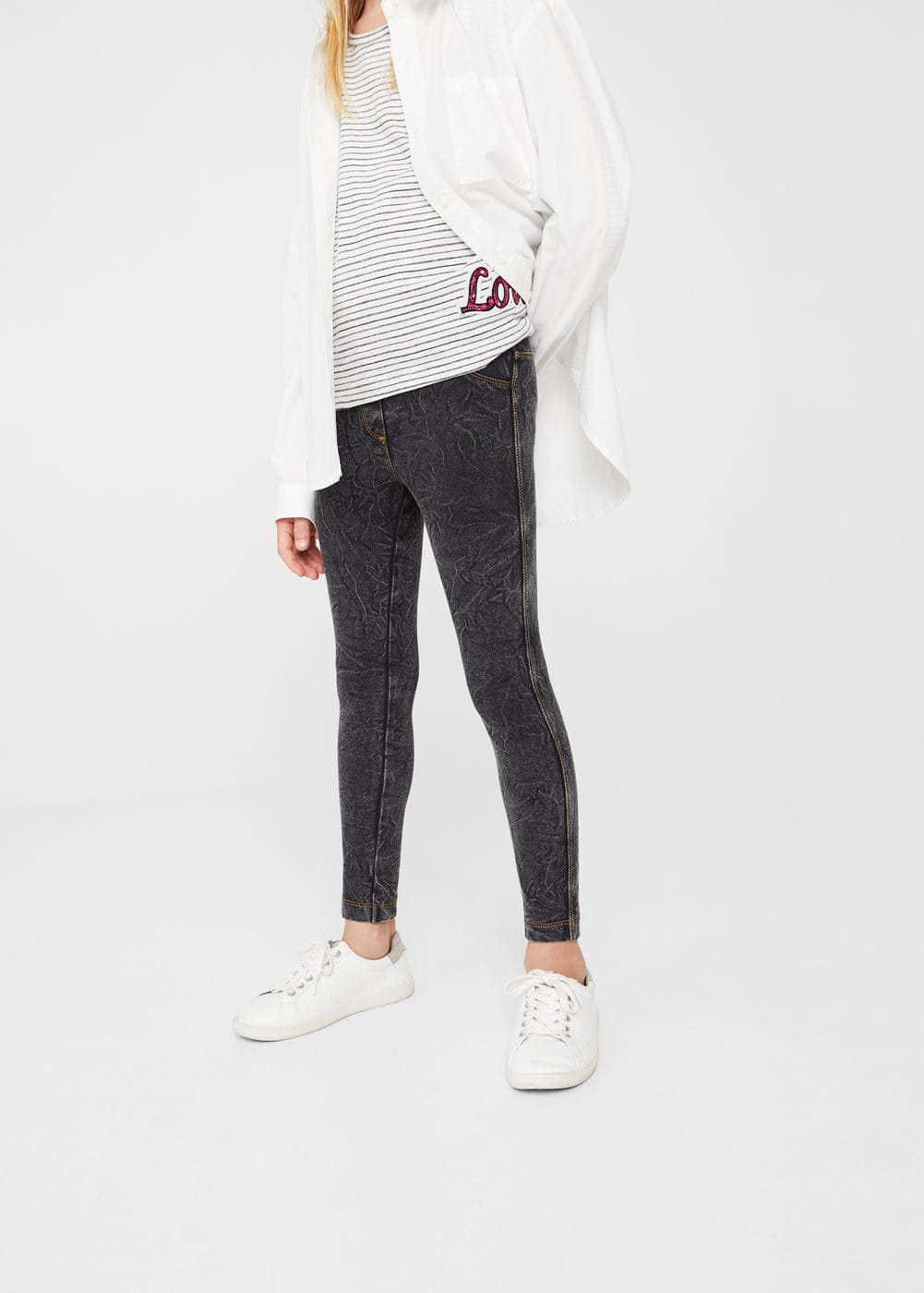 Denim leggings | MANGO