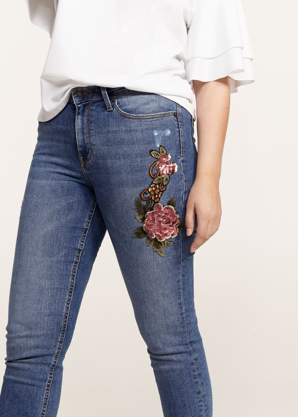 Super slim sequins jeans | MANGO
