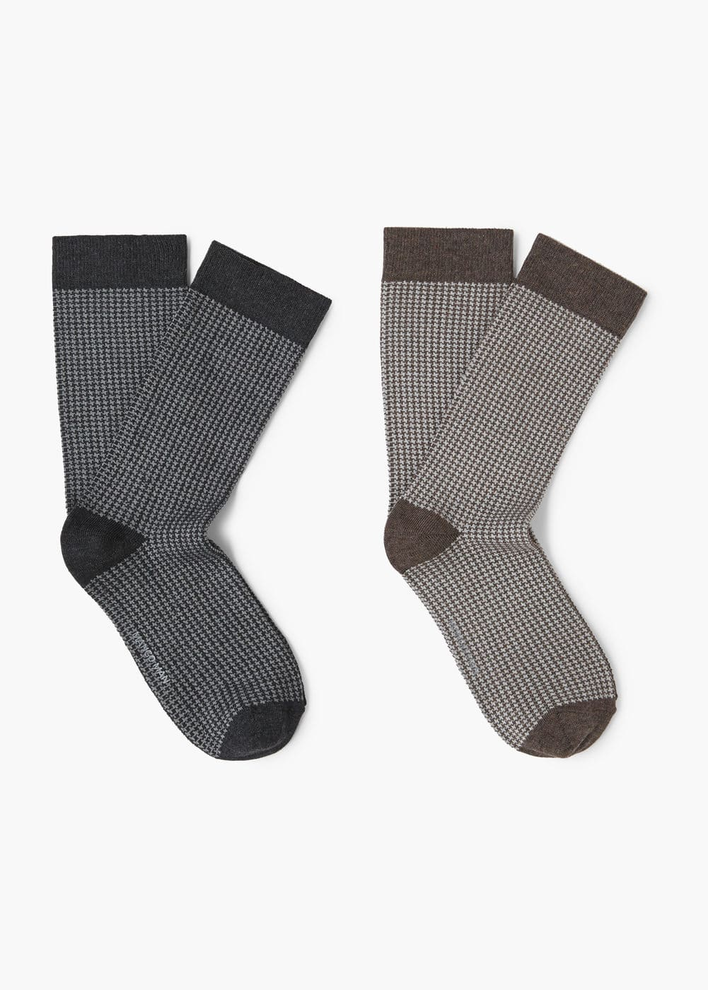 2 pack houndstooth socks | MANGO