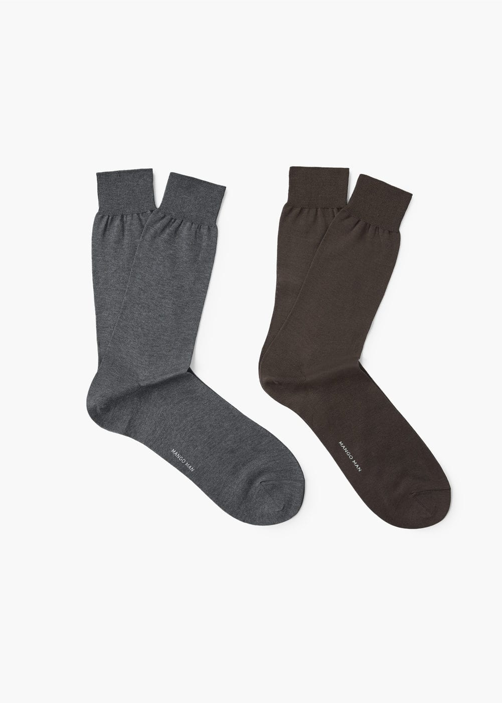 2 pack plain socks | MANGO