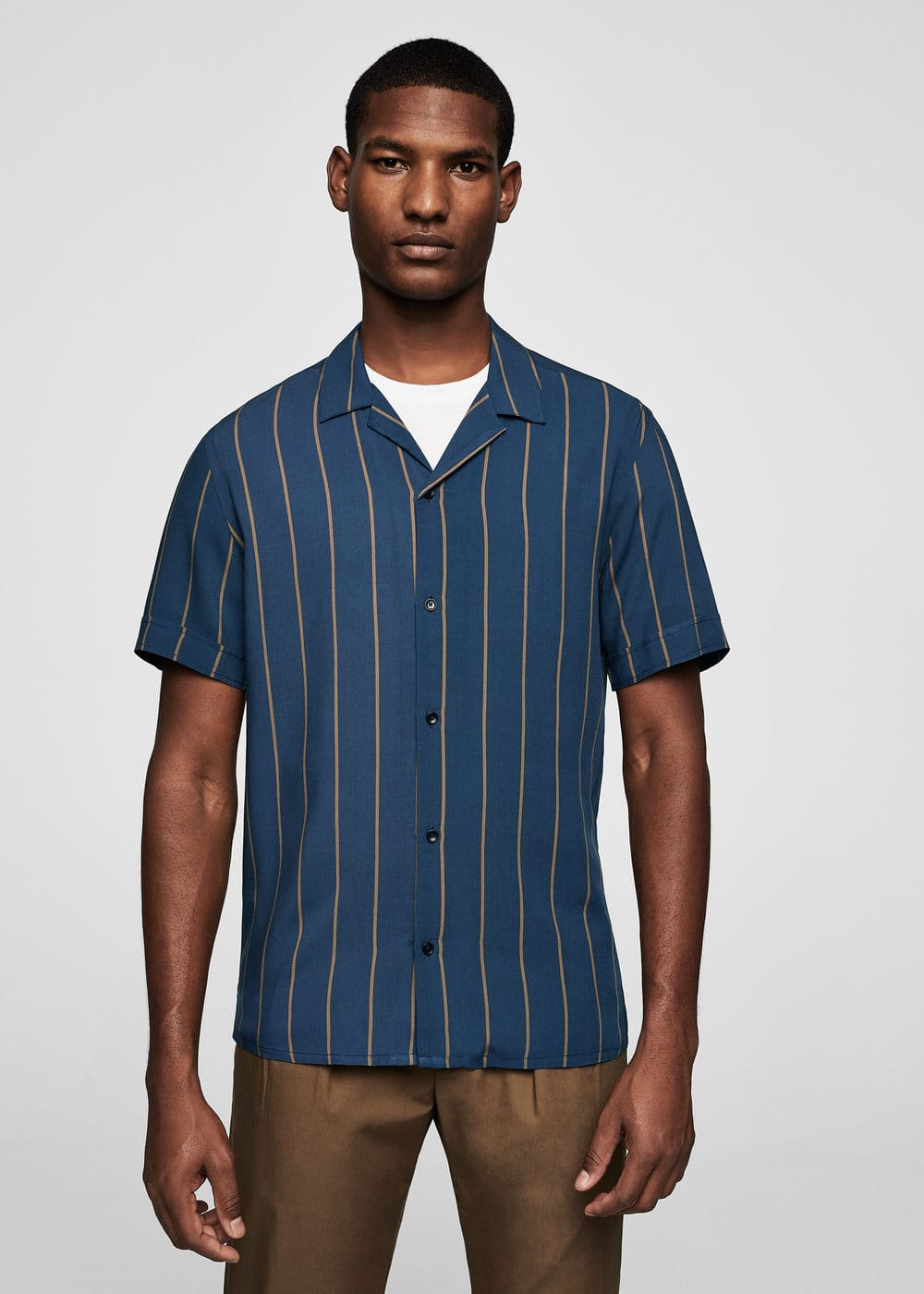 Regular-fit bowling shirt | MANGO