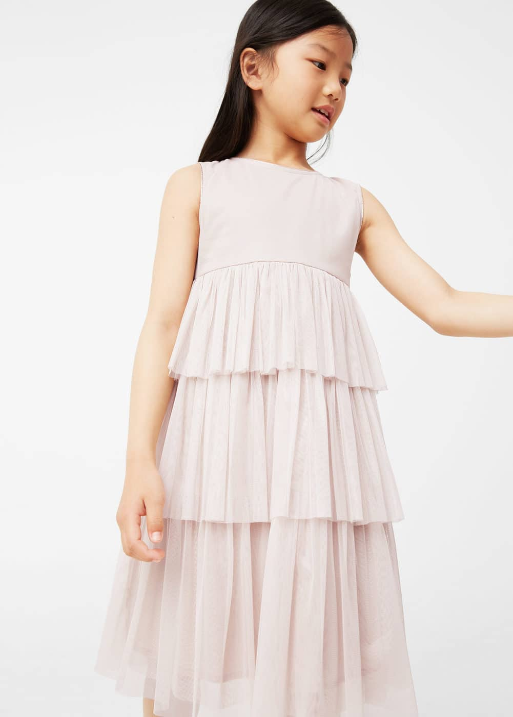 Tulle panel dress | MANGO