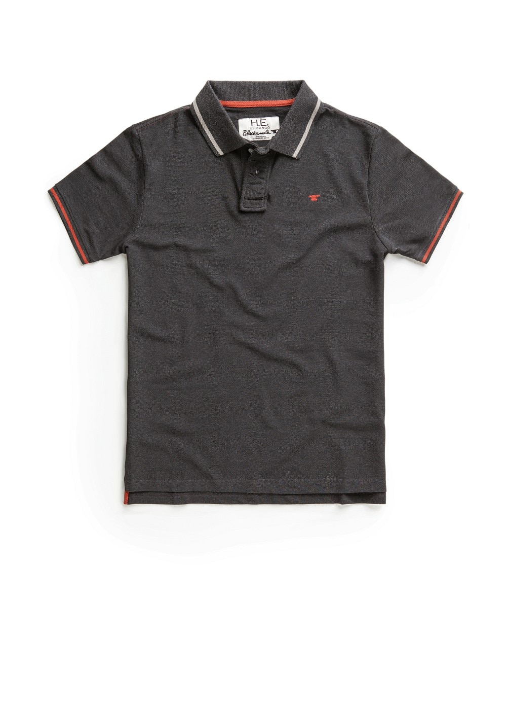 Contrasted trimmings piqué polo shirt | MANGO MAN