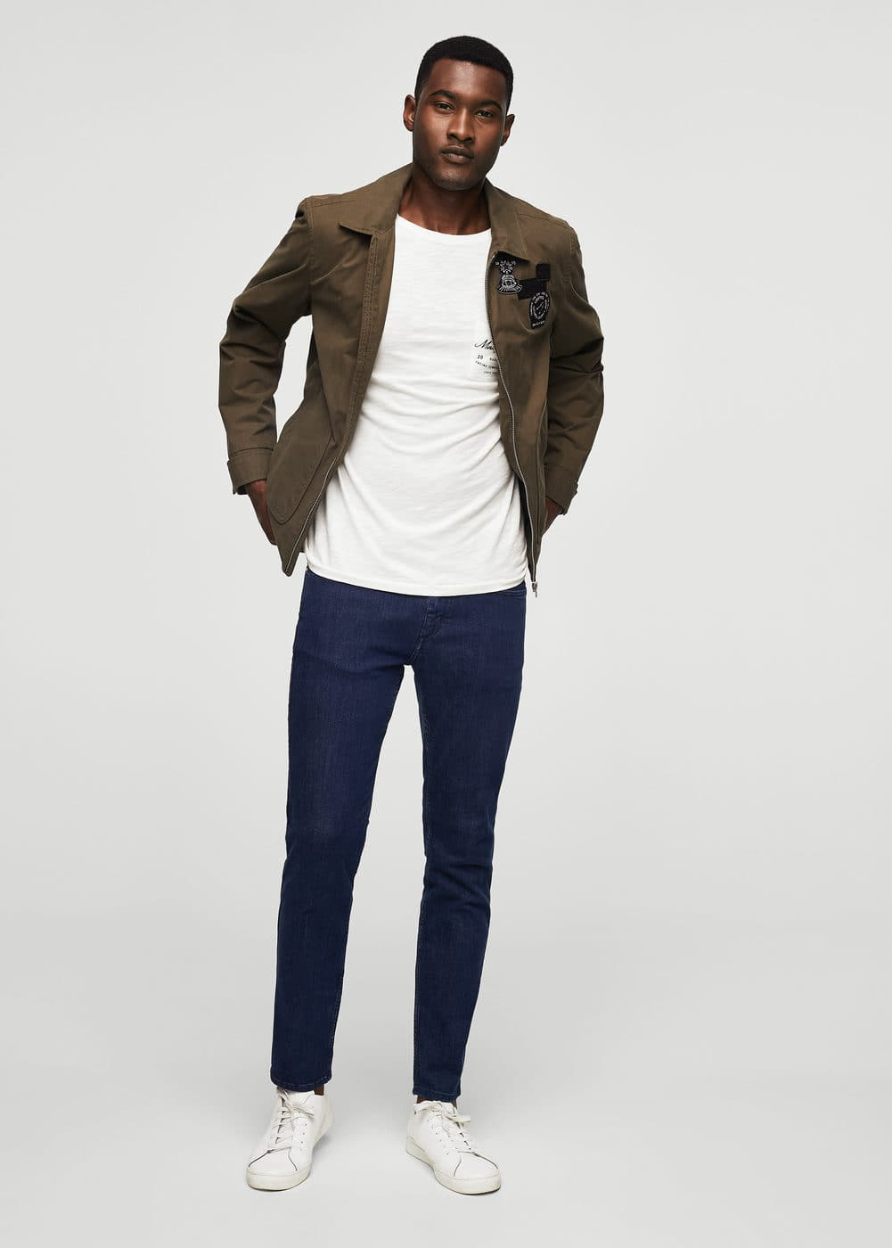 Slim-fit dark wash patrick jeans | MANGO