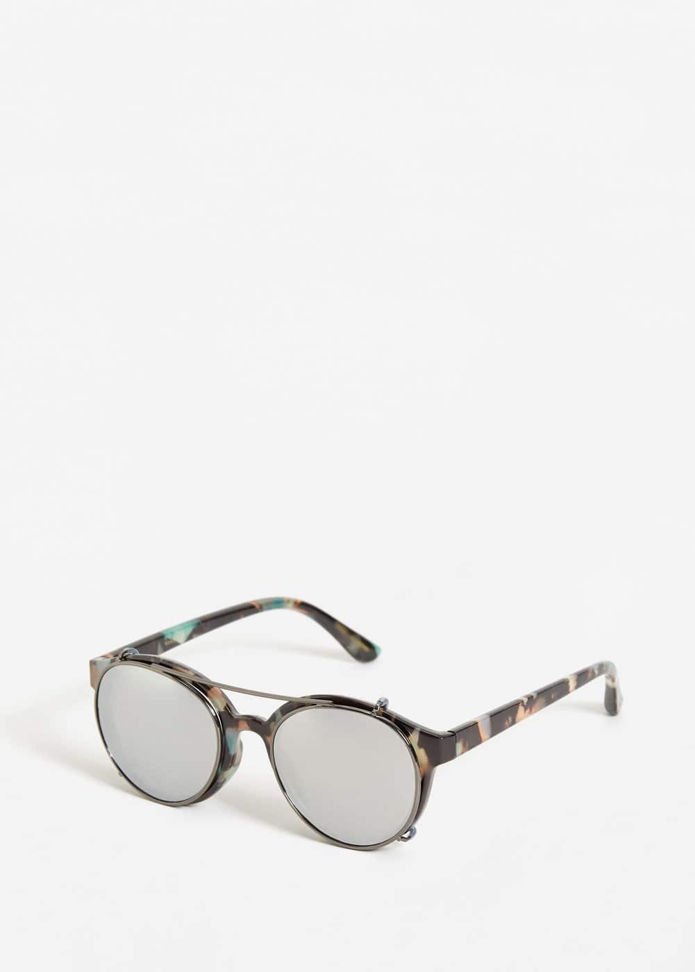 Clip-on lens sunglasses | MANGO MAN