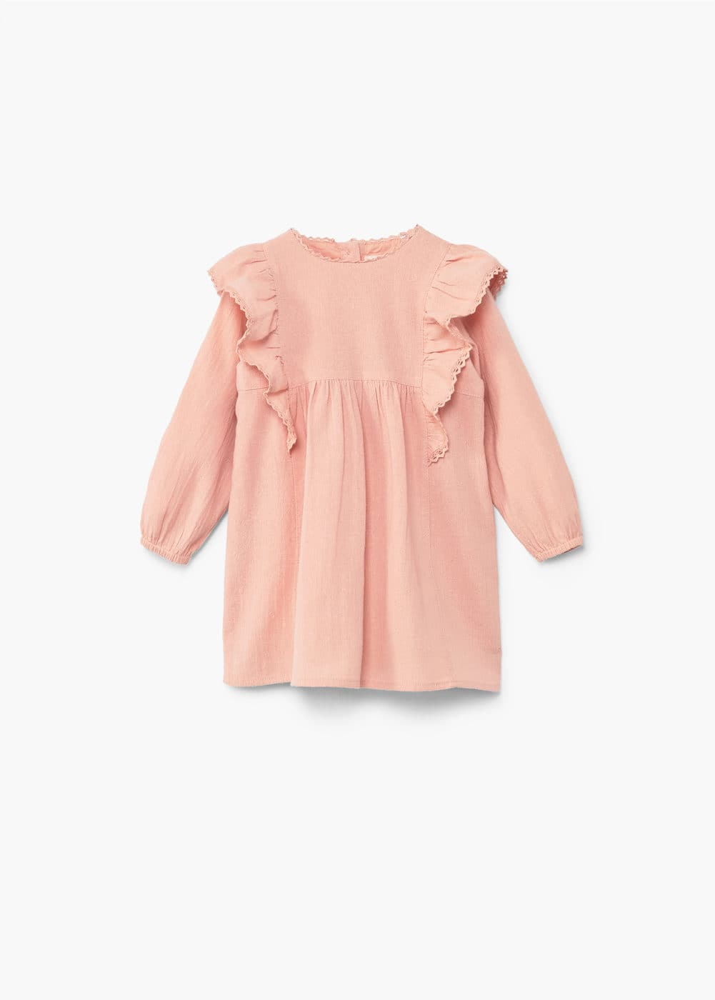 Frill cotton dress | MANGO