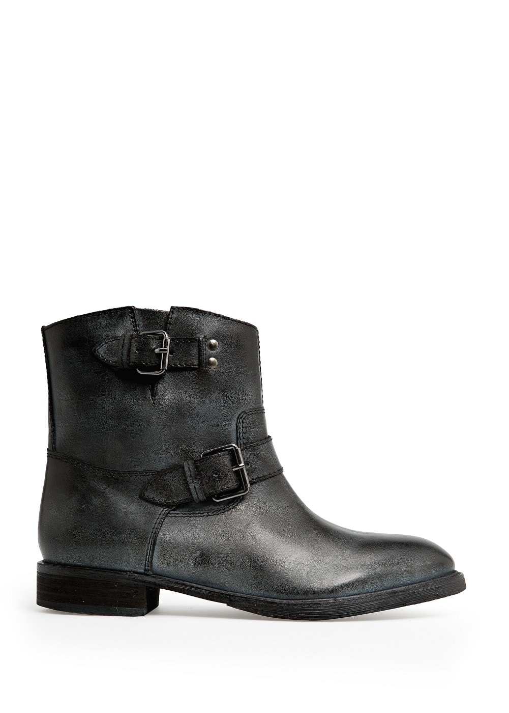 Buckle leather ankle boots | MANGO