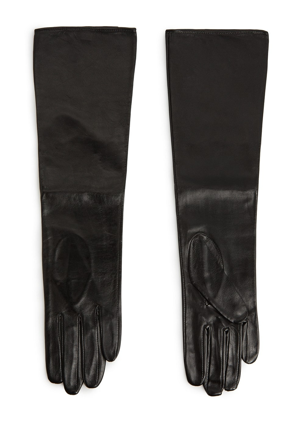 Leather long gloves | MANGO
