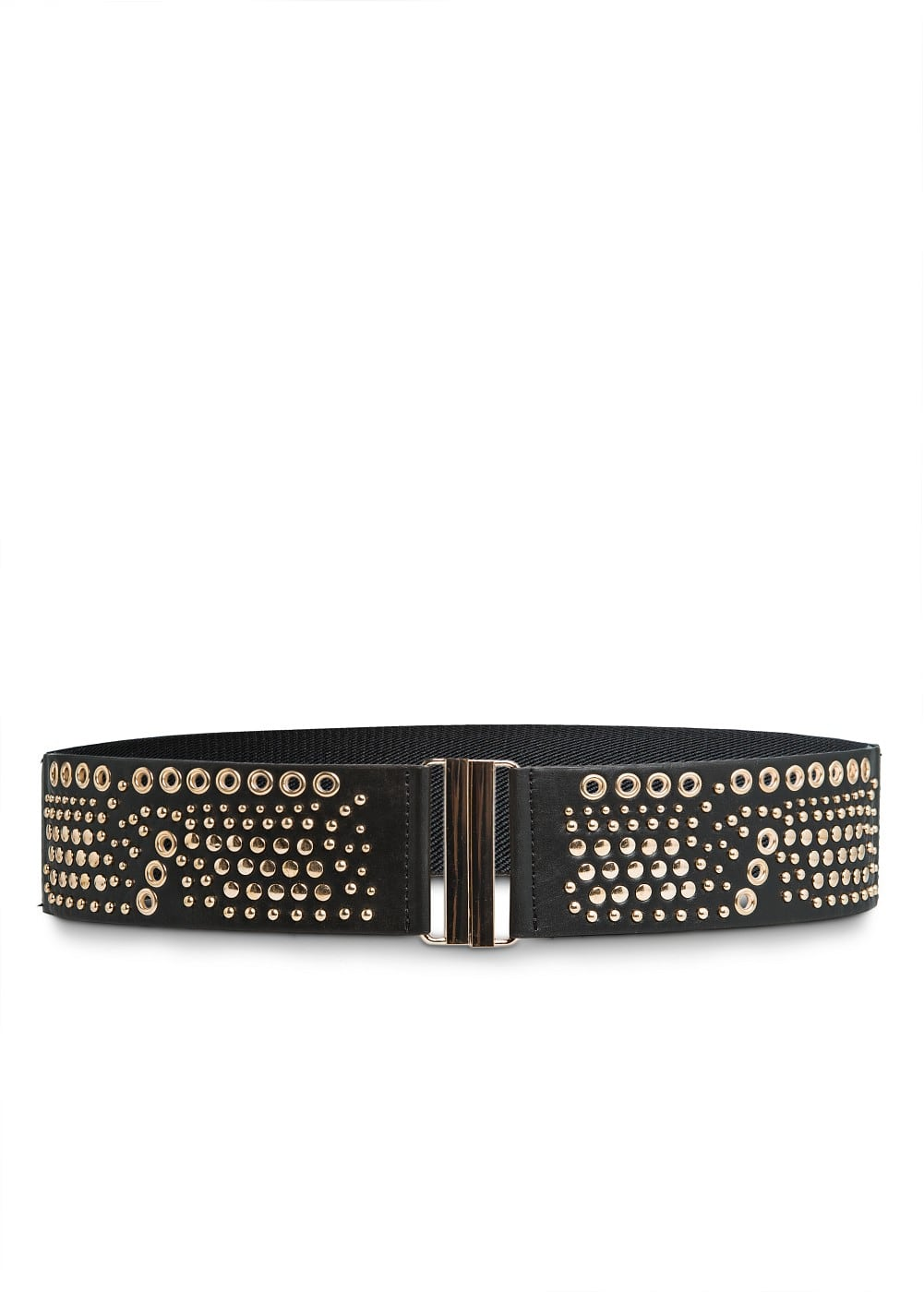 Eyelets and studs elastic belt | MANGO