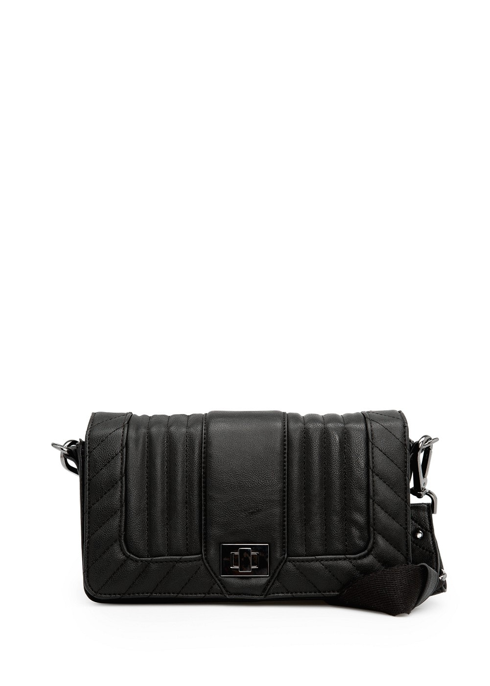 Quilted flap shoulder bag | MANGO