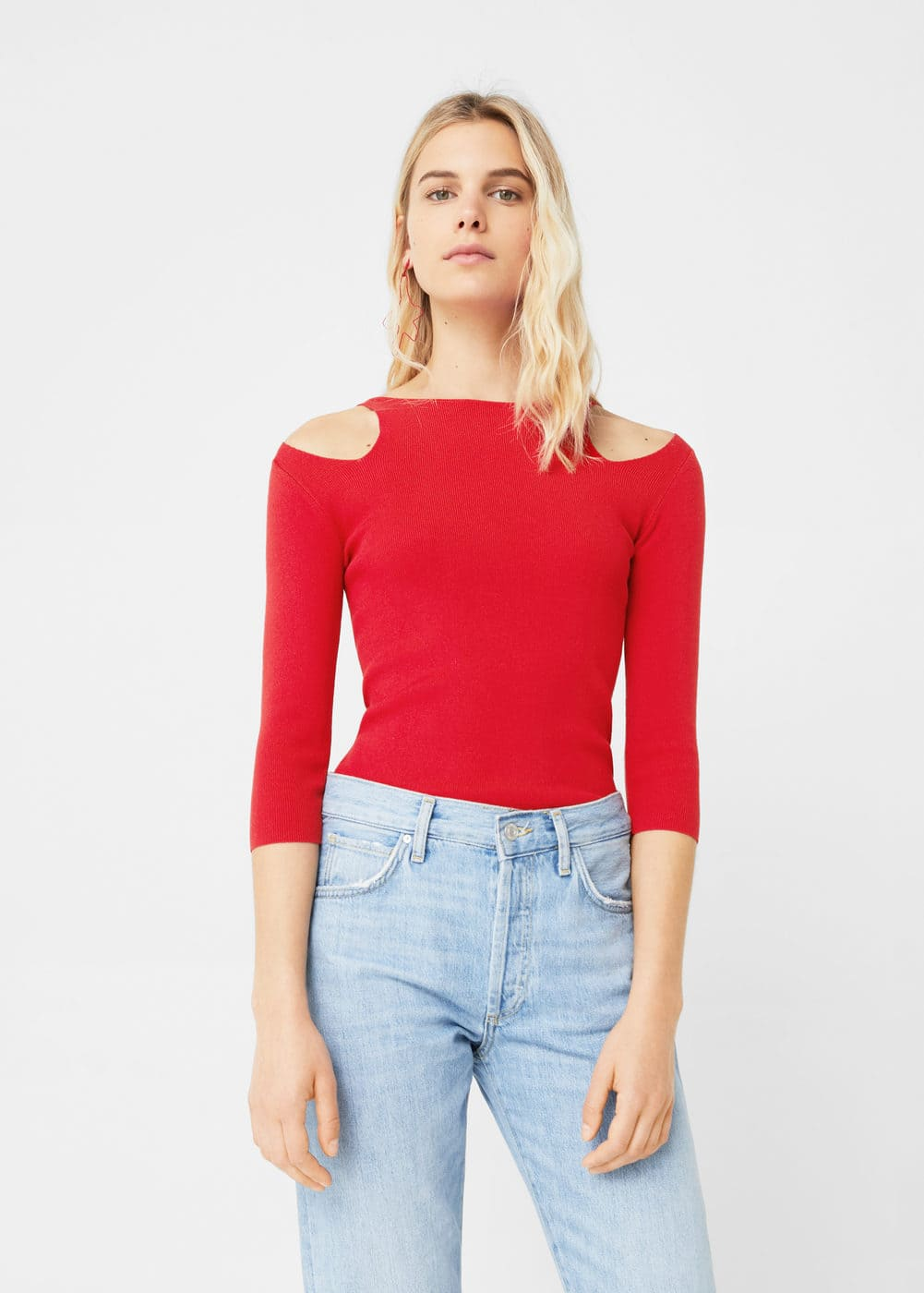Cut-out sweater | MANGO