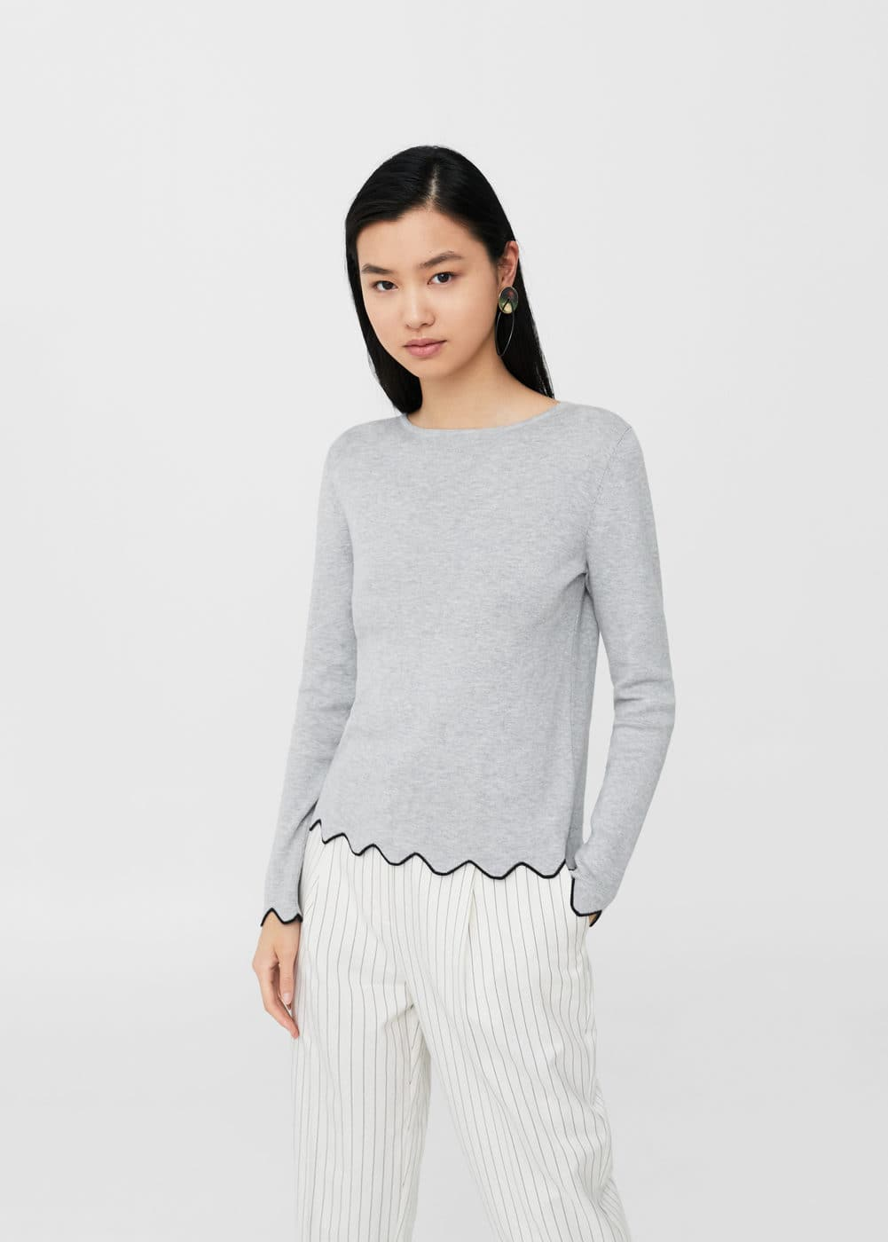 Scalloped edges sweater | MANGO