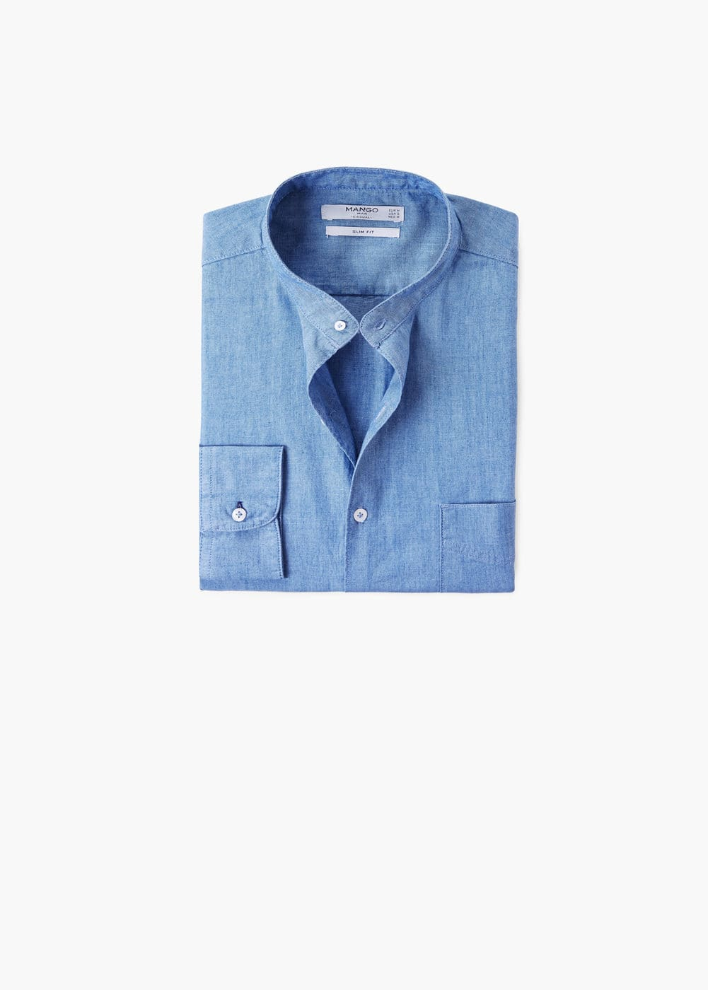 Slim-fit light denim shirt | MANGO