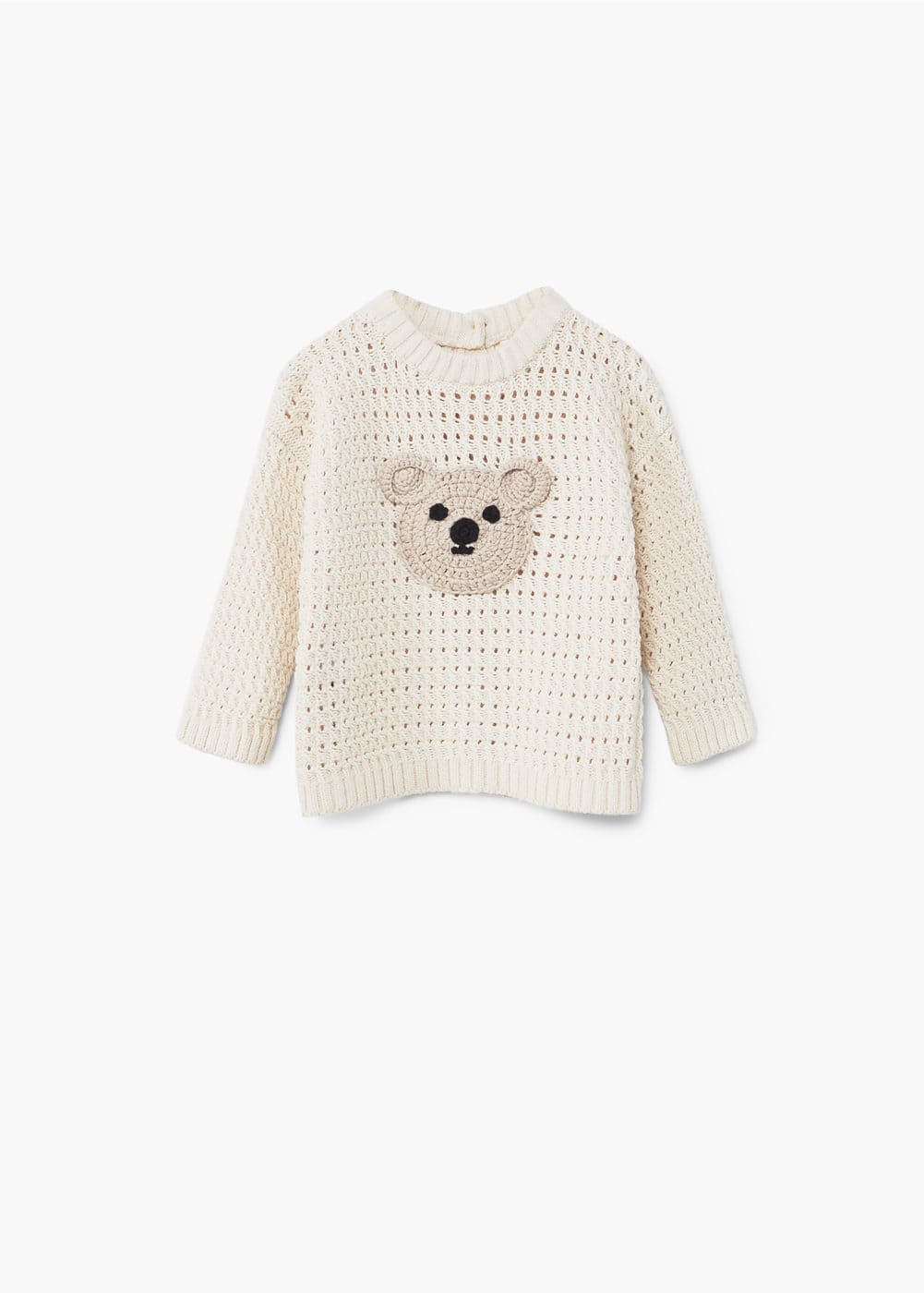 Openwork bear sweater | MANGO