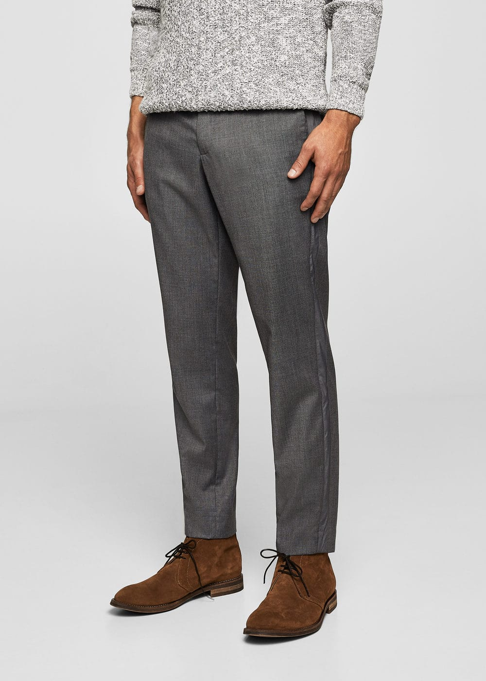 Slim-fit patterned trousers | MANGO