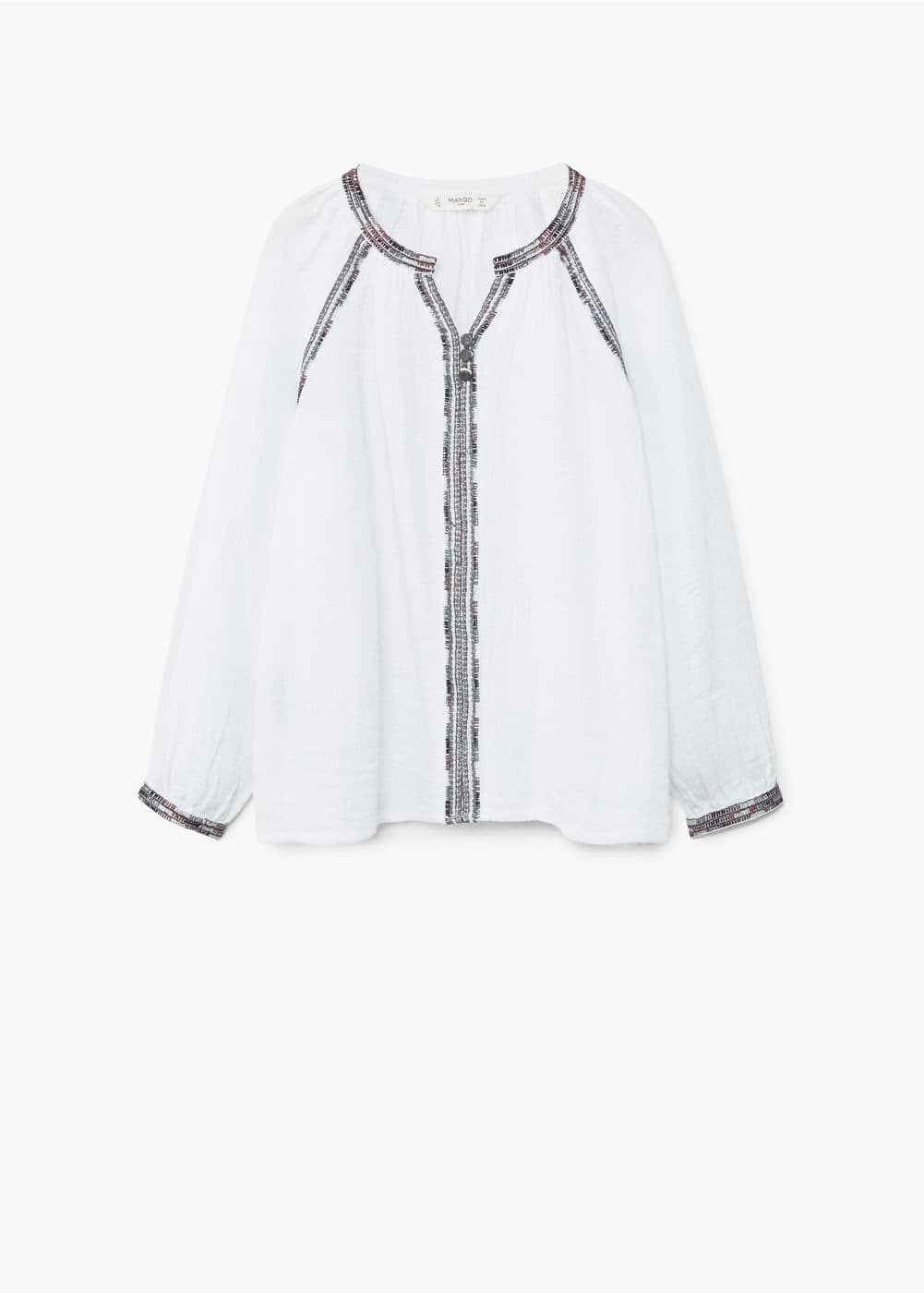 Embroidered boho blouse | MANGO