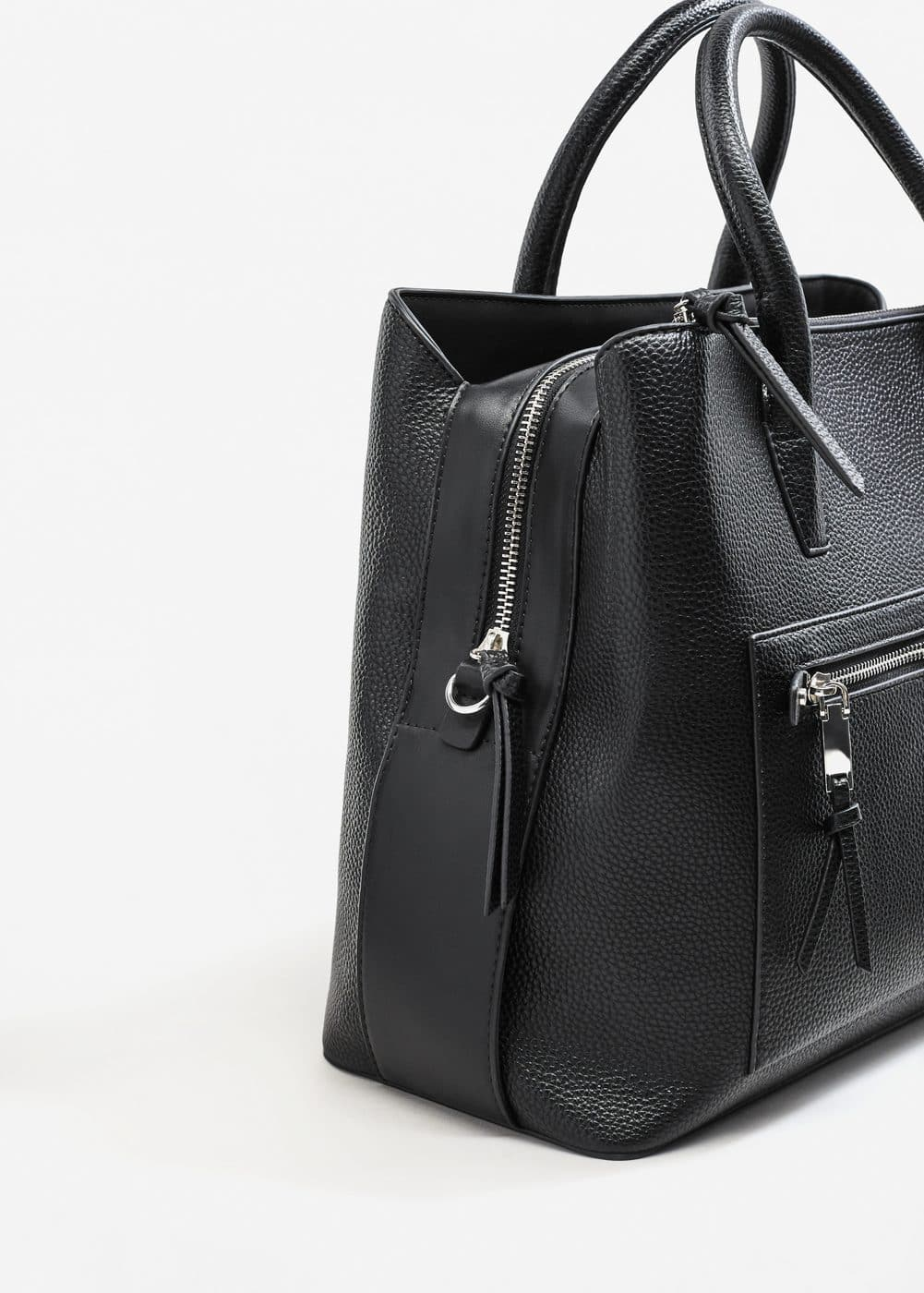 Gegranuleerde shopper | MANGO