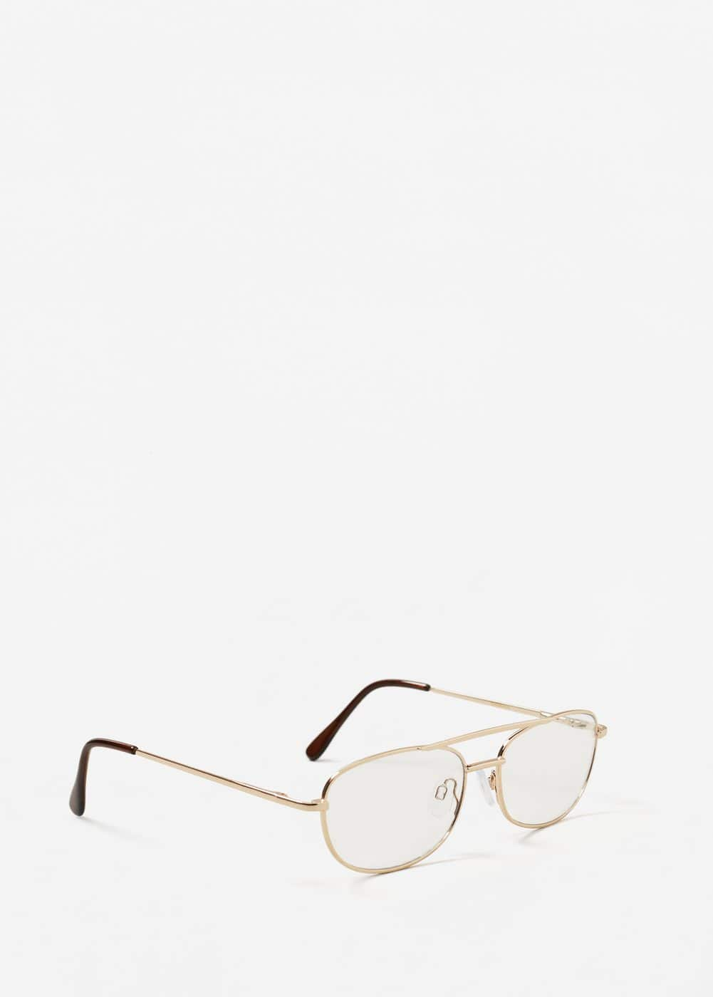 Metallic frame glasses | MANGO