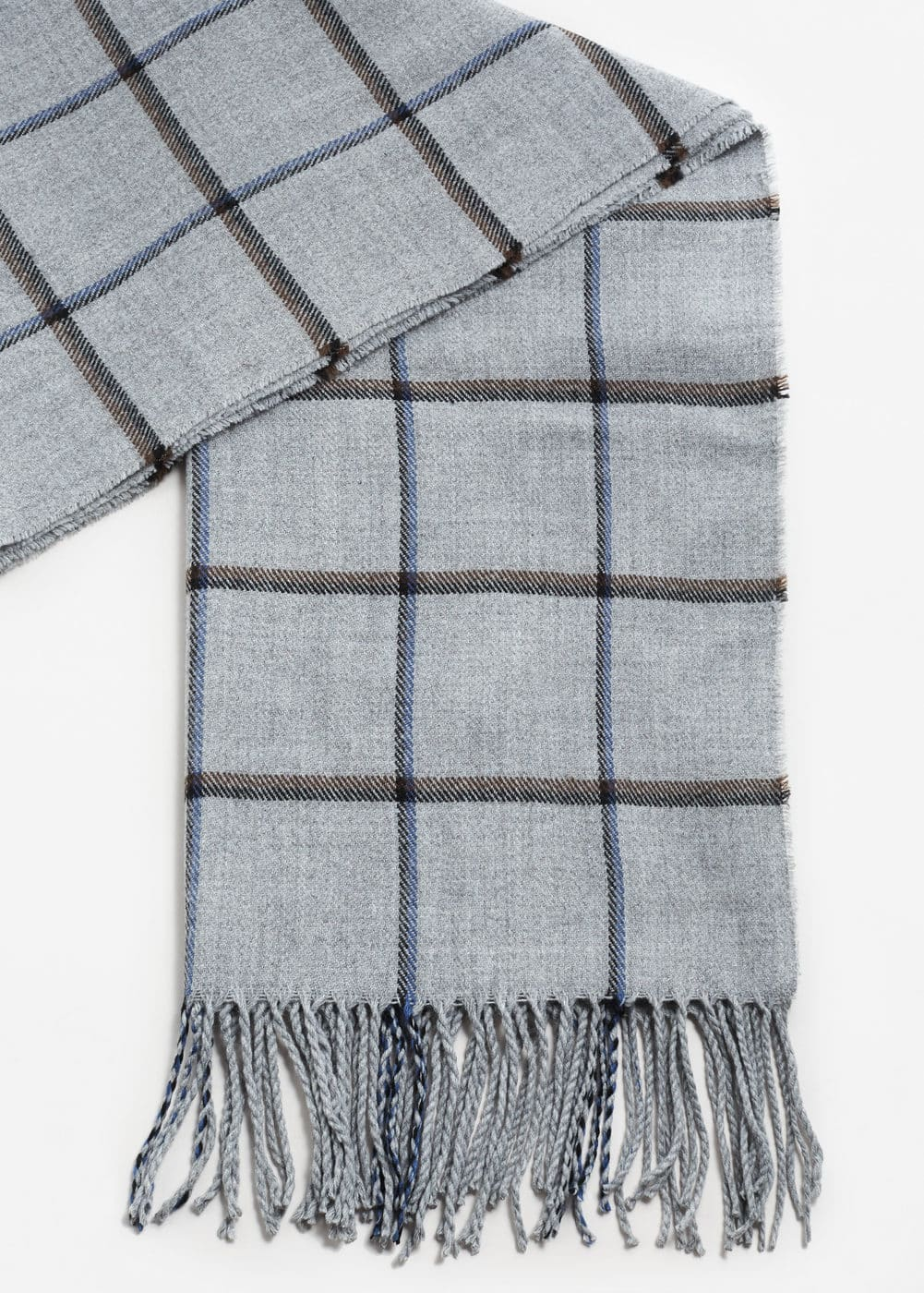 Check knit scarf | MANGO