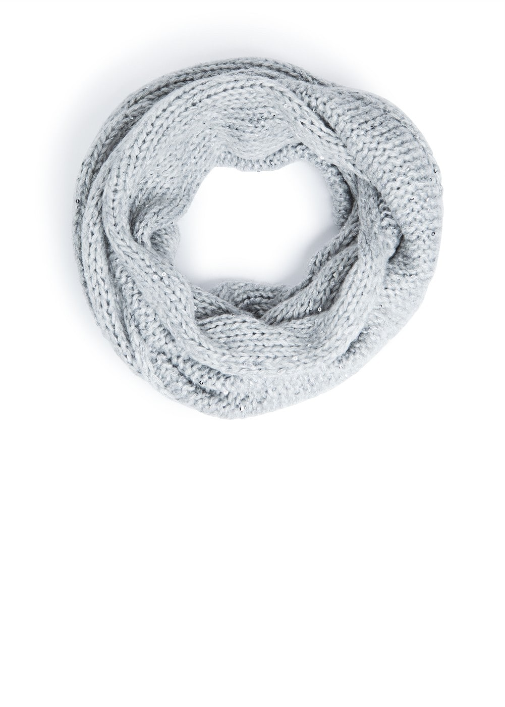 Sequined chunky knit snood | MANGO
