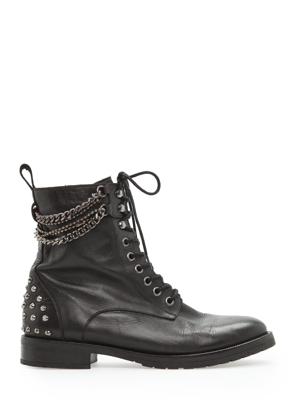 Rocker leather ankle boots | MANGO