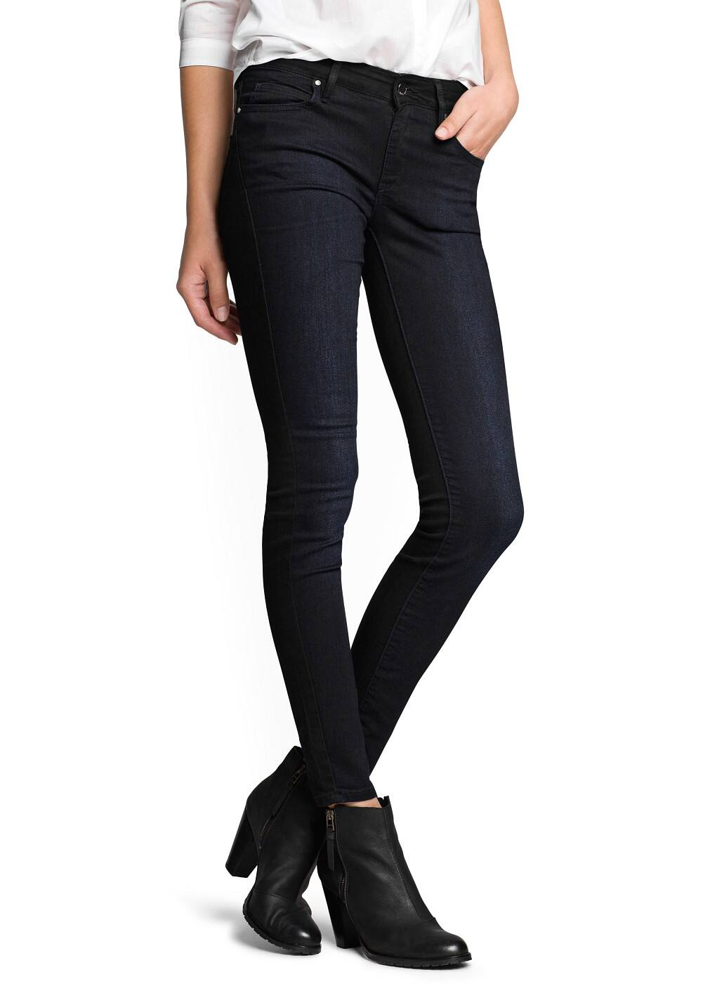 Super slim-fit black twin jeans | MANGO