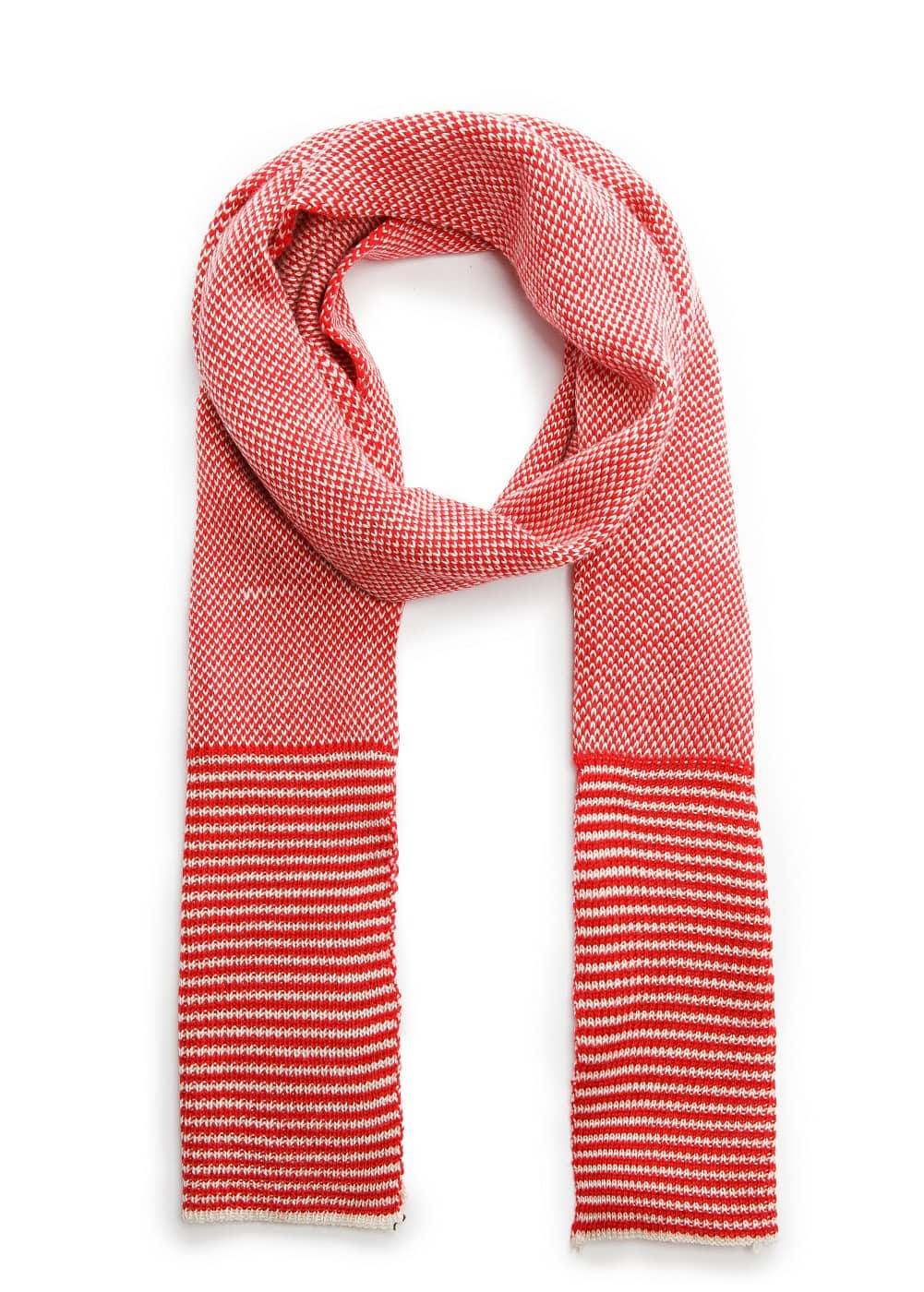 Two-tone knit scarf | MANGO