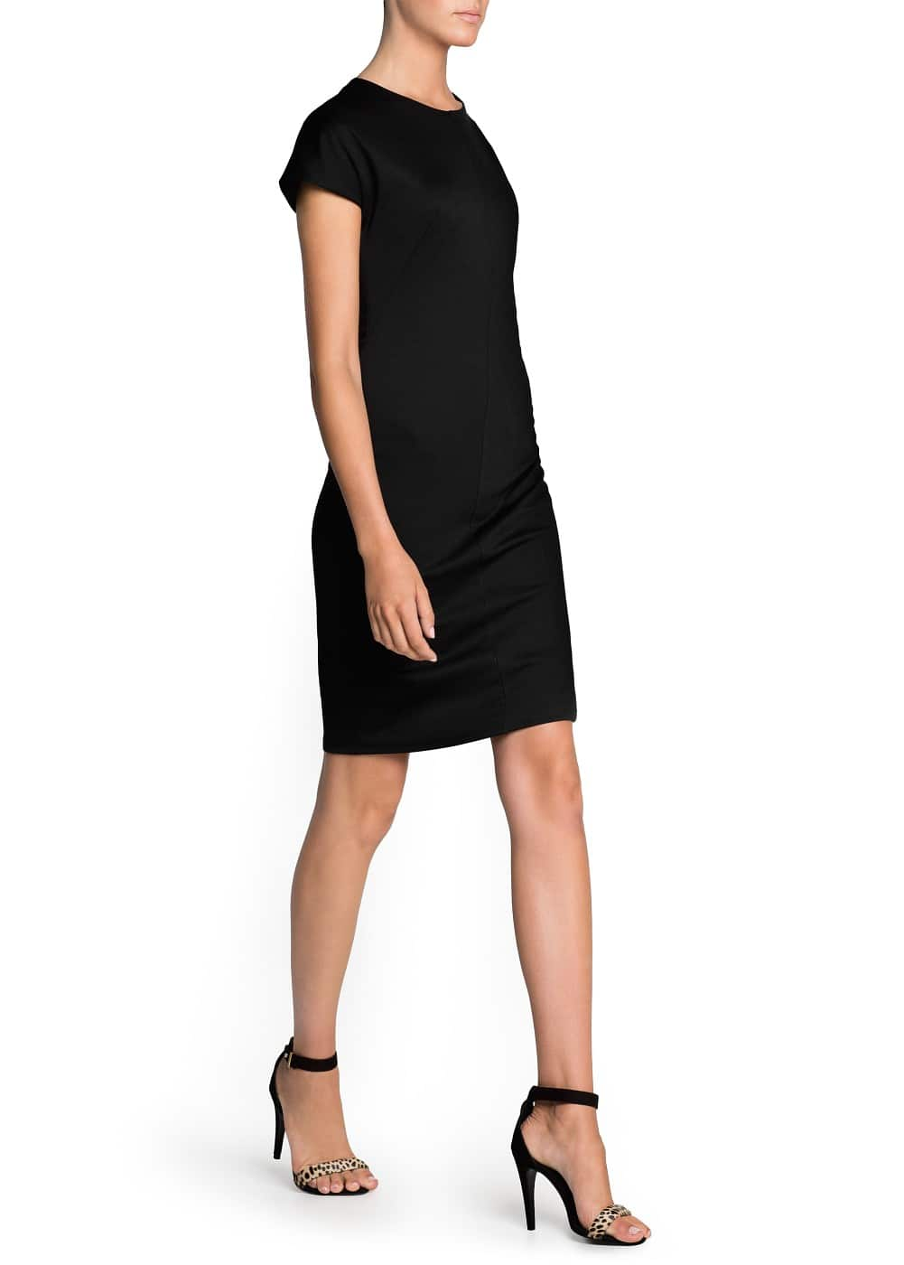 Minimal fitted dress | MANGO
