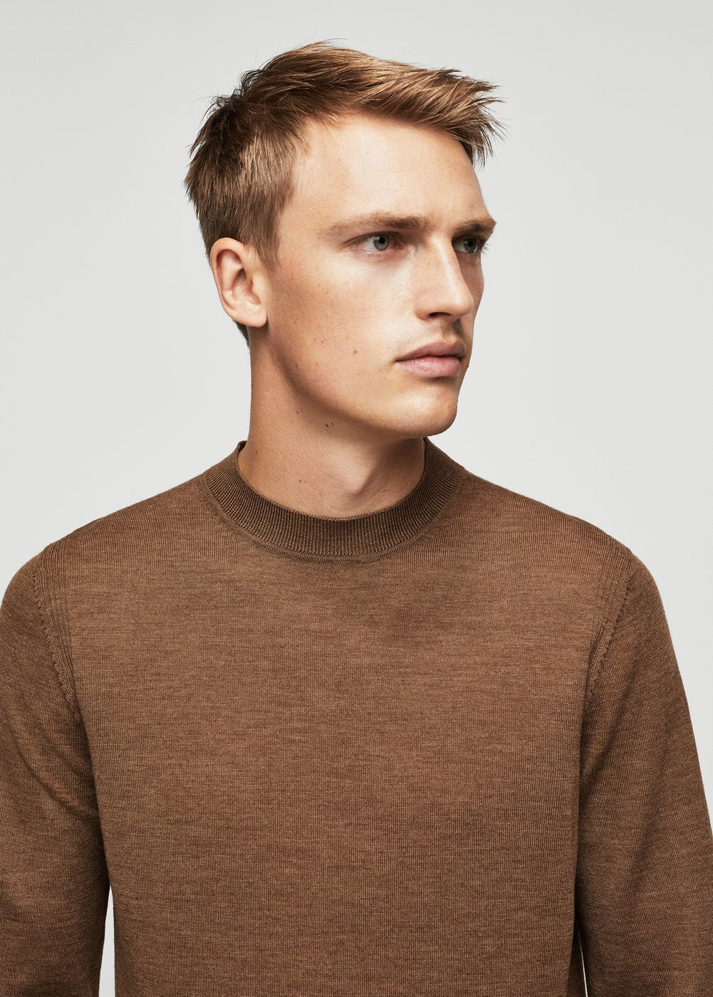 Wool-blend knit sweater | MANGO MAN