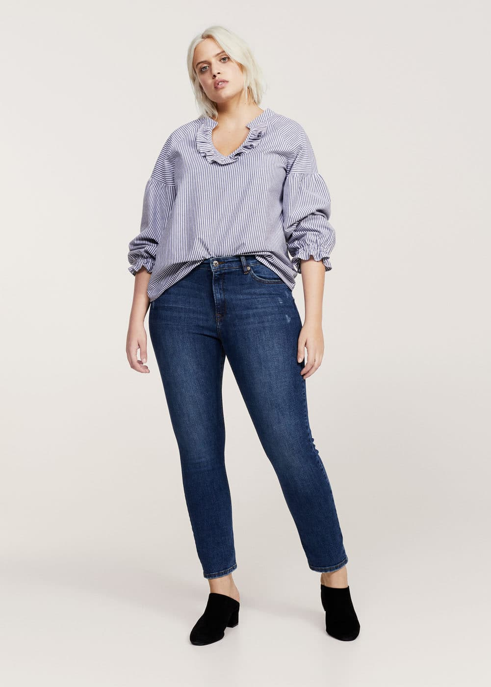 Slim-fit push up mariah jeans | VIOLETA BY MANGO